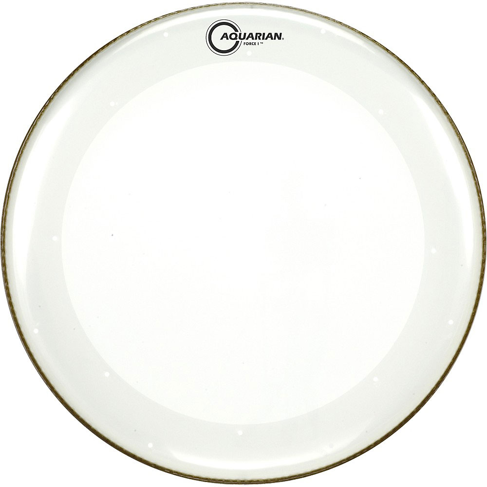 """Aquarian 24"""" Full Force I Clear Bass Drum Head with Vented Control Ring"""