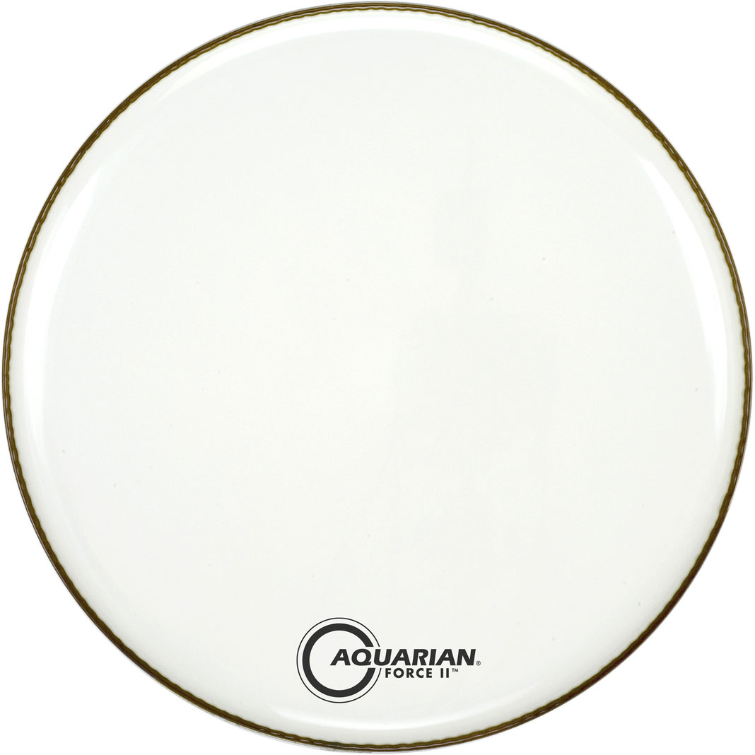 """Aquarian 20"""" Force II White Gloss Resonant Bass Head with Vented Control Ring"""