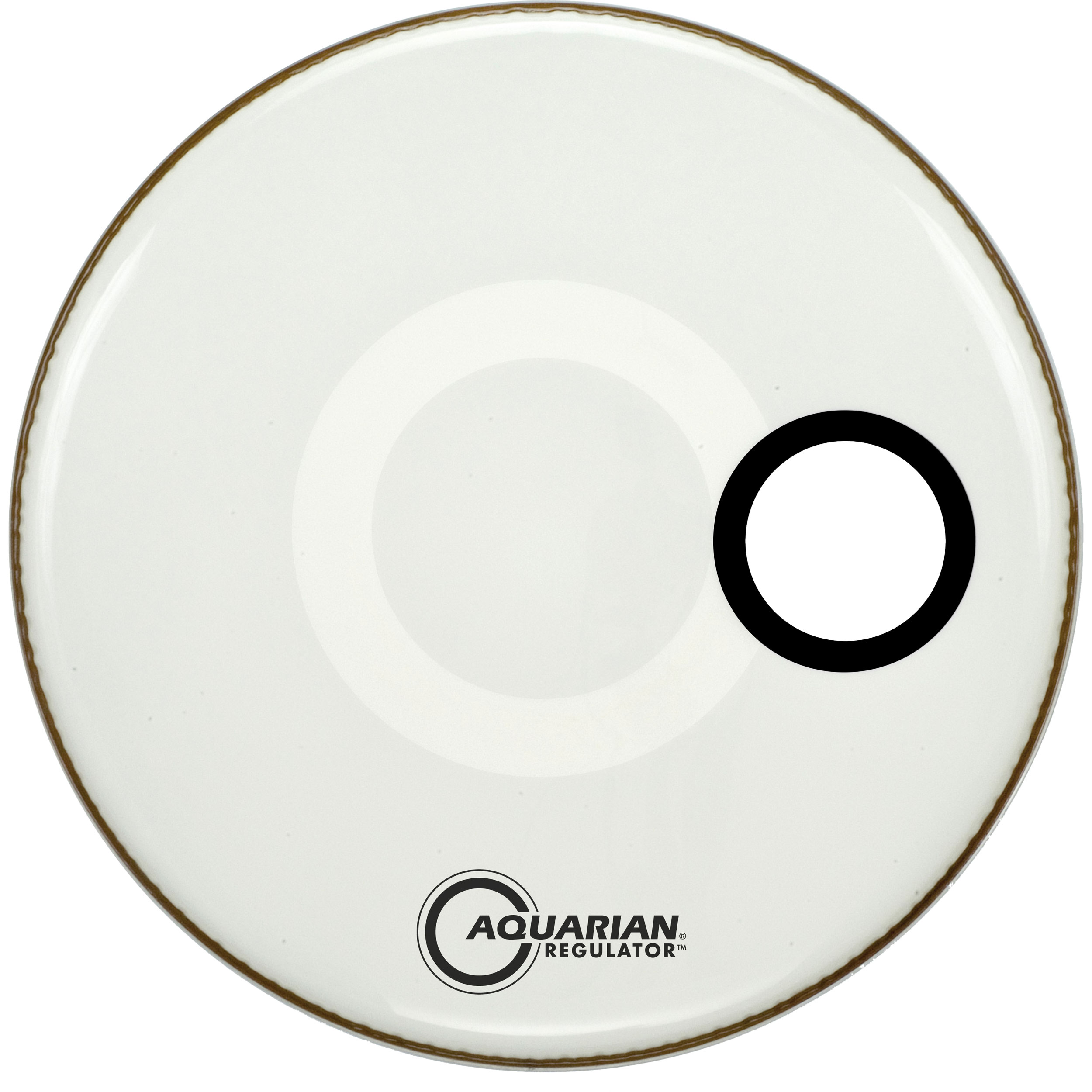 "Aquarian 16"" Regulator Side-Ported White Resonant Bass Head"