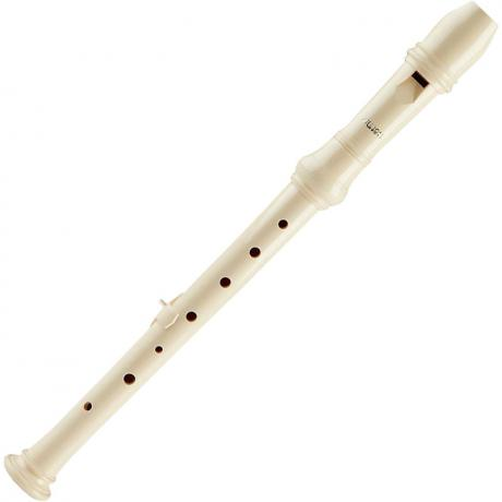 Aulos Two Piece Soprano Recorder with German Fingering