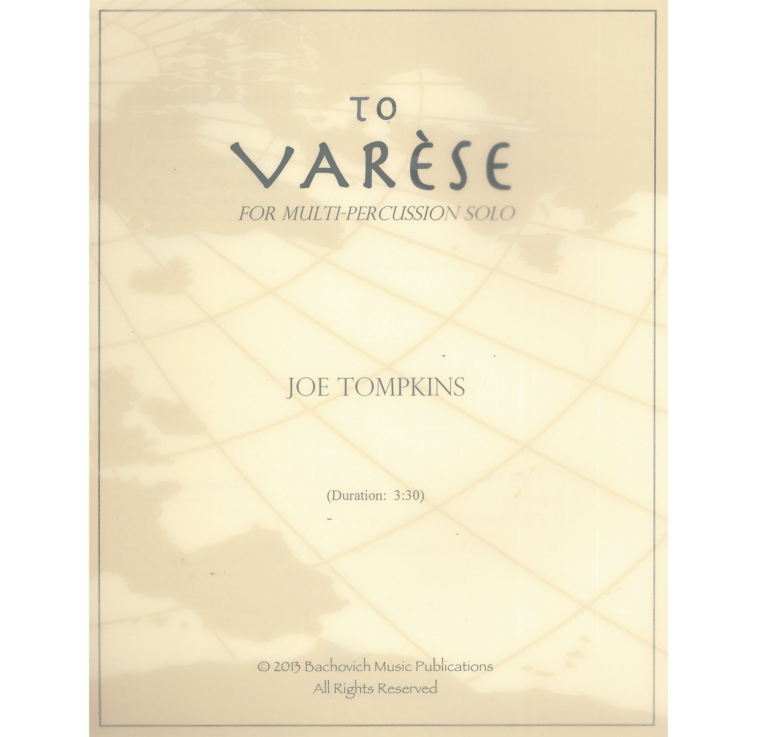 To Varese by Joseph Tompkins