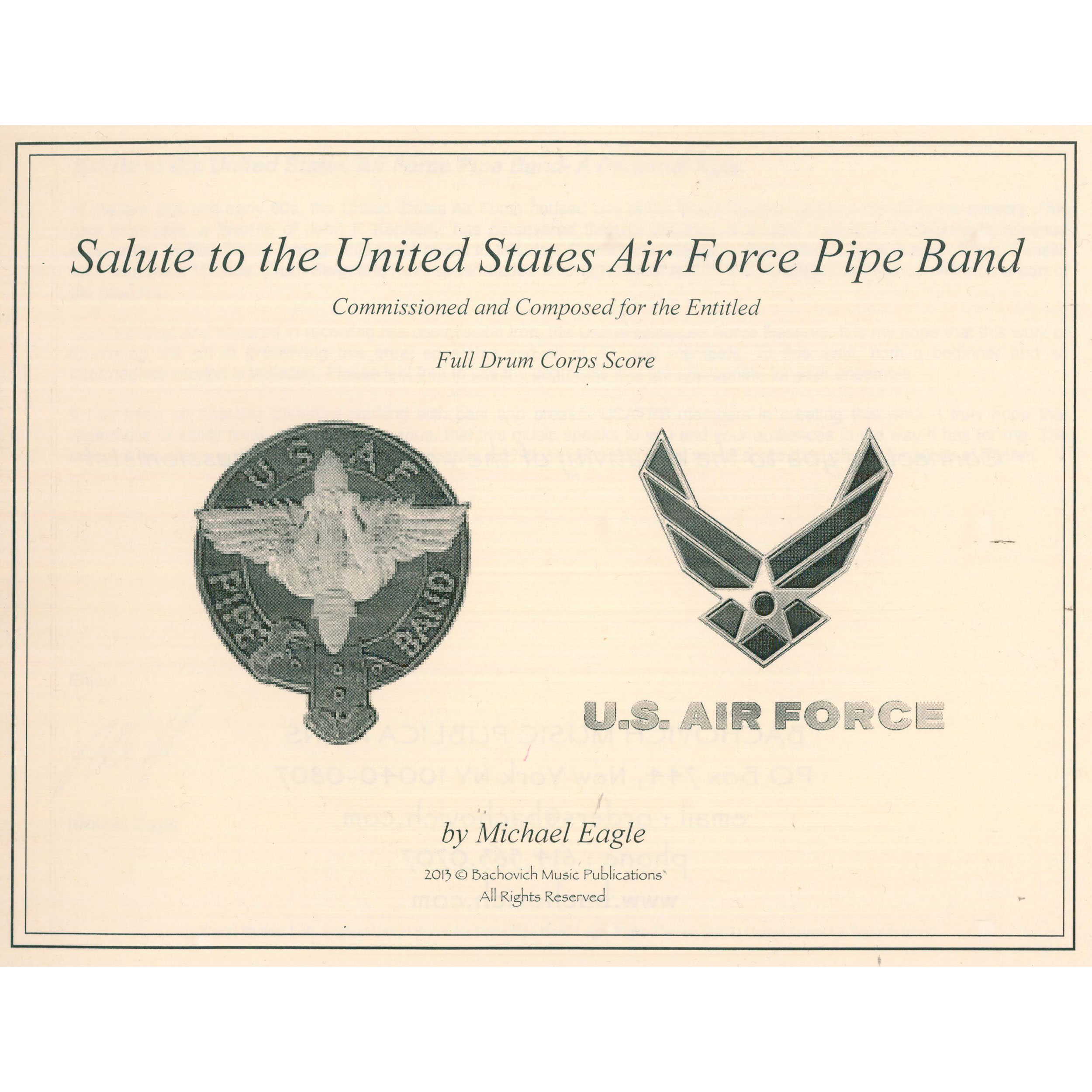 A Salute to the US Air Force Pipe Band by Michael Eagle
