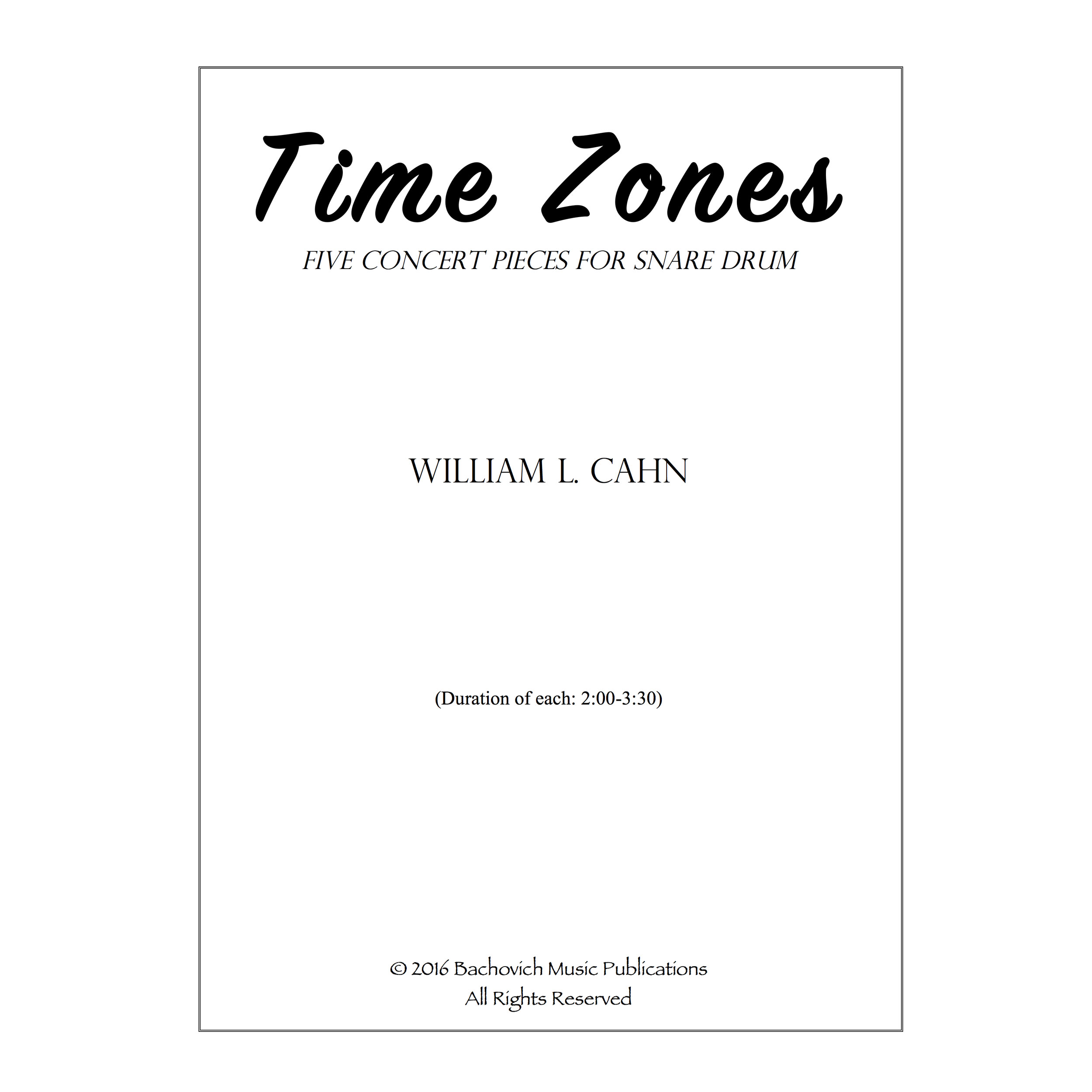 Time Zones by William Cahn