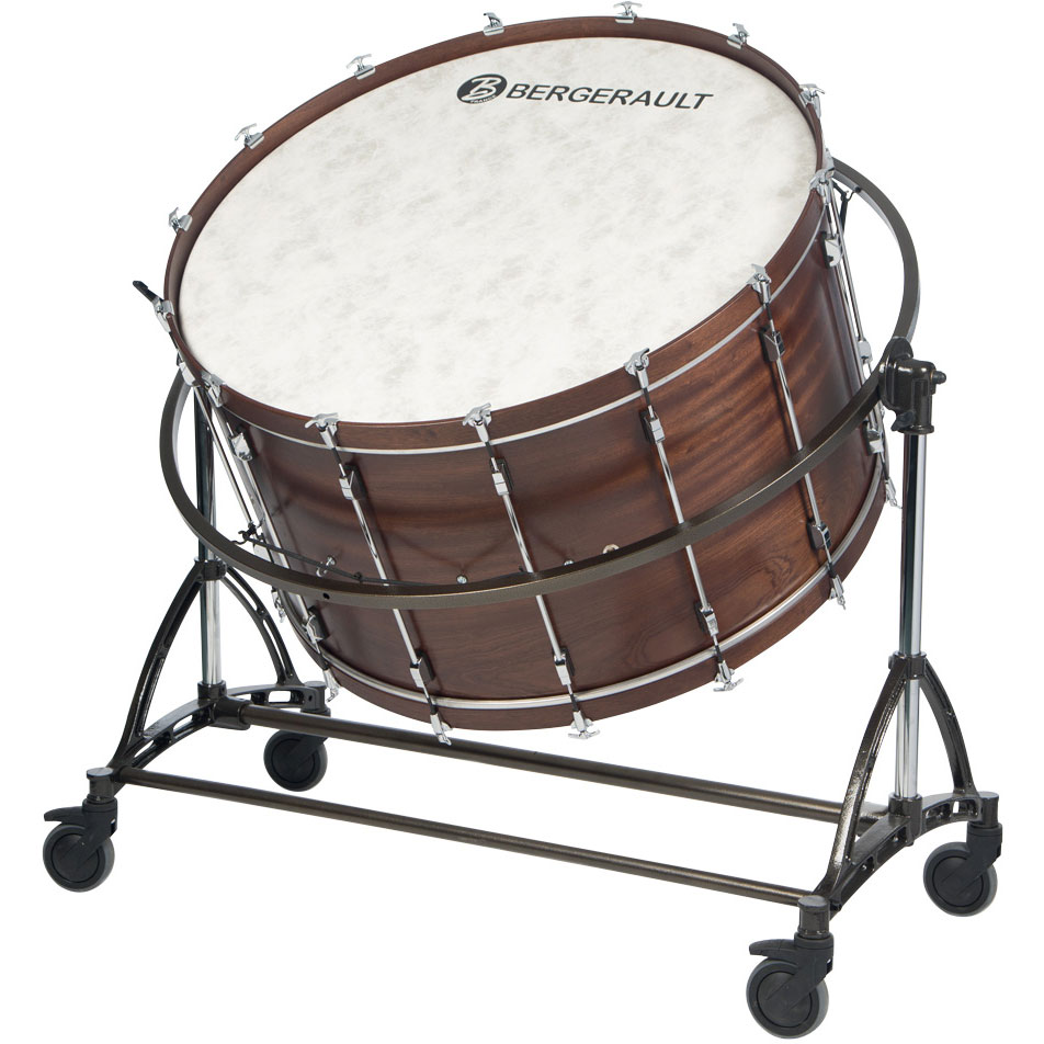"""Bergerault 40"""" x 22"""" Symphonic Series Bass Drum with Suspension Stand"""