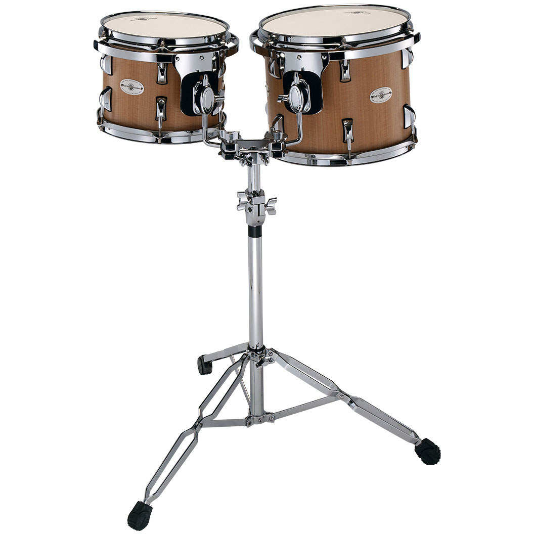 """Black Swamp 10/12"""" Concert Toms with Double Tom Stand"""