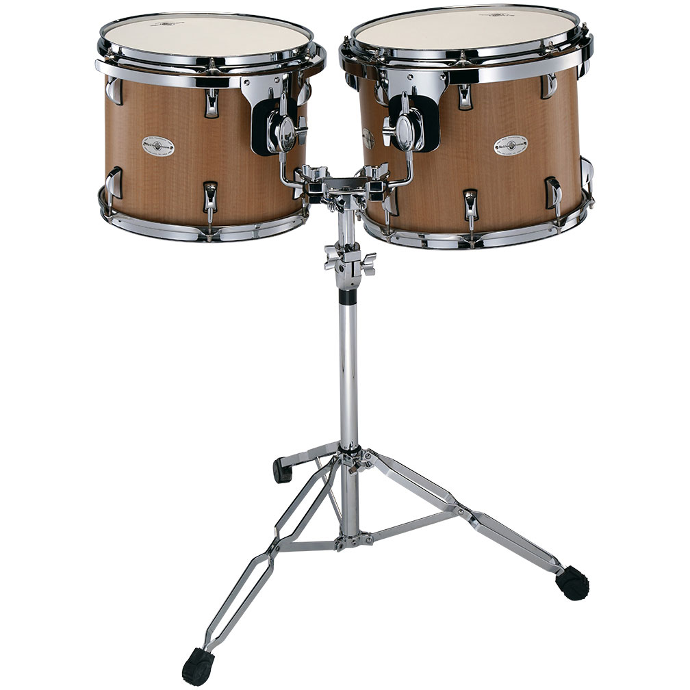 """Black Swamp 13/14"""" Concert Toms with Double Tom Stand"""