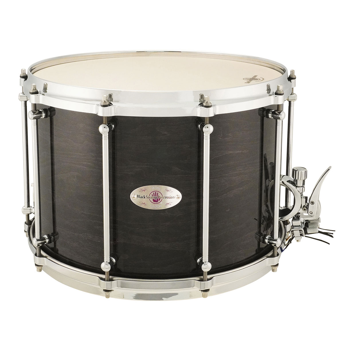 "Black Swamp 10"" (Deep) x 14"" (Diameter) Maple Field Drum with Die-Cast Hoops and Trio Strainer"