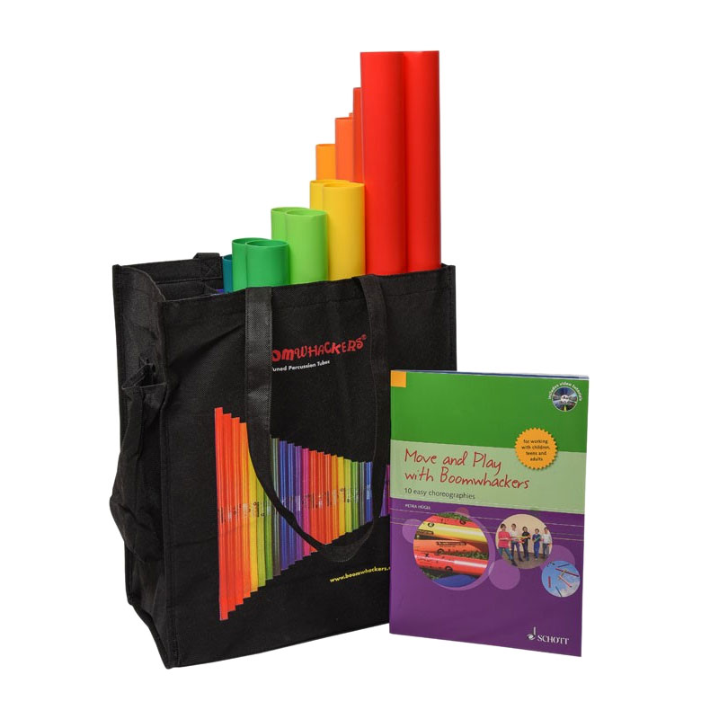 Boomwhackers Move and Play Boomwhacker Set with Bag, Activity Book, and CD/DVD
