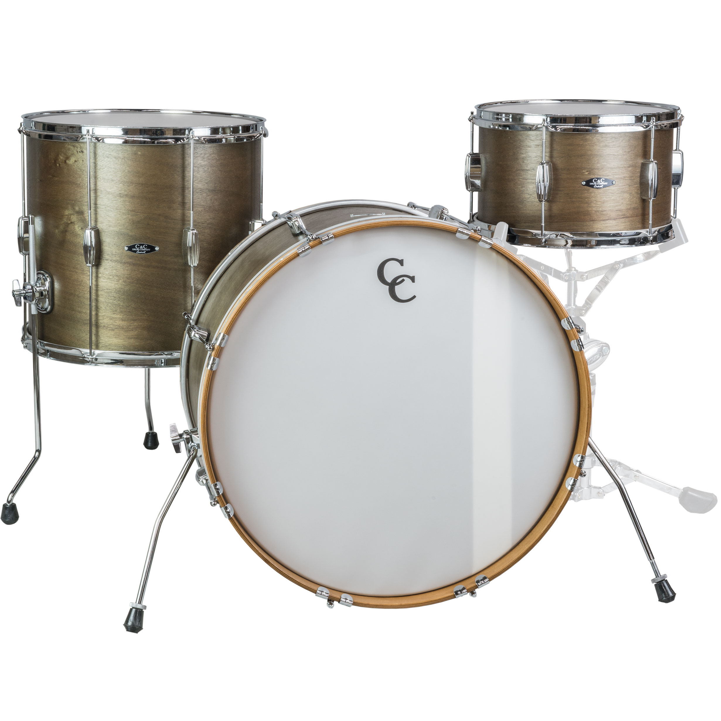 "C&C Drum Player Date I 3-Piece Big Beat Drum Set Shell Pack (22"" Bass, 13/16"" Toms) in Olive Drab Satin"
