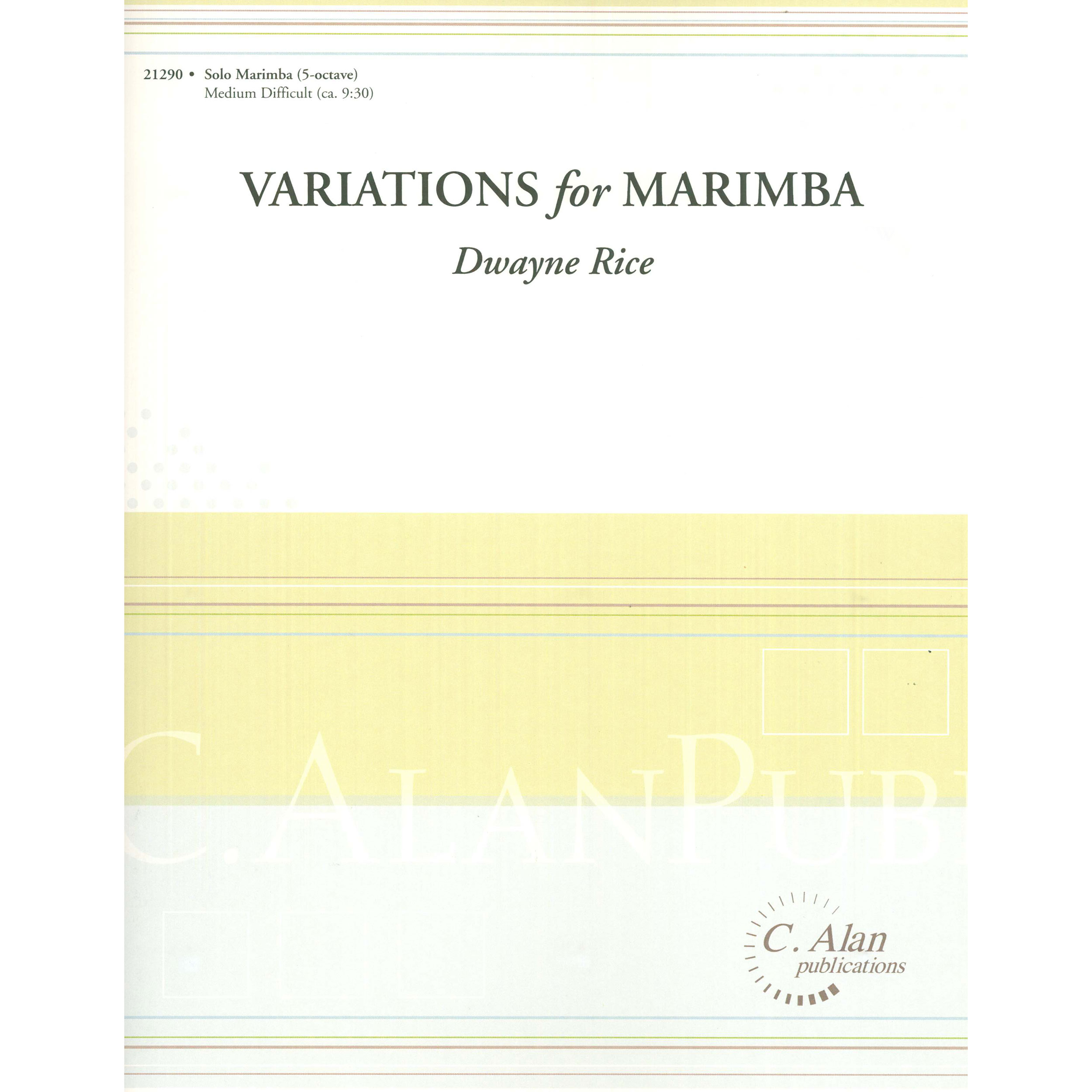 Variations for Marimba by Dwayne Rice