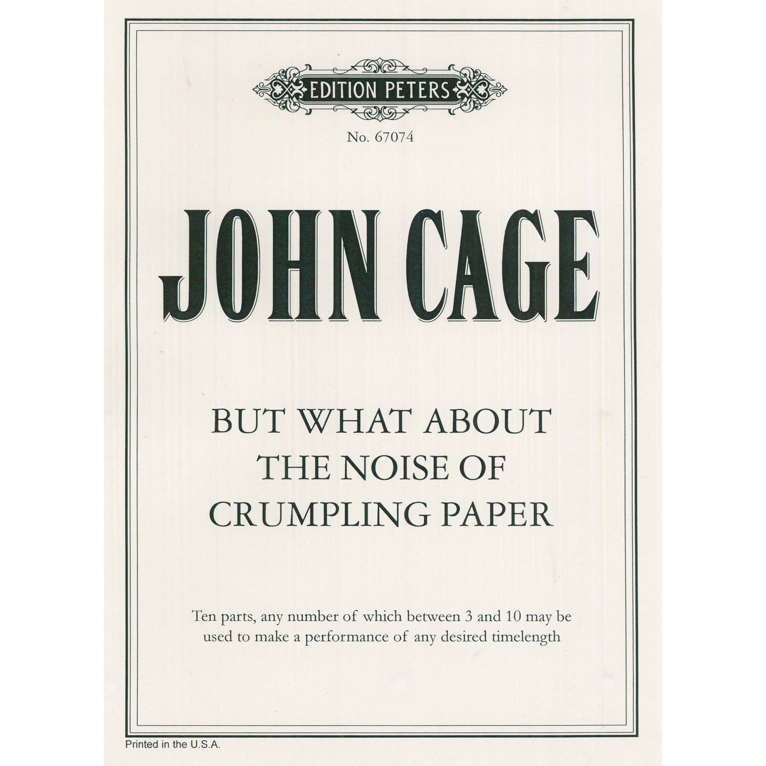 but what about... by John Cage