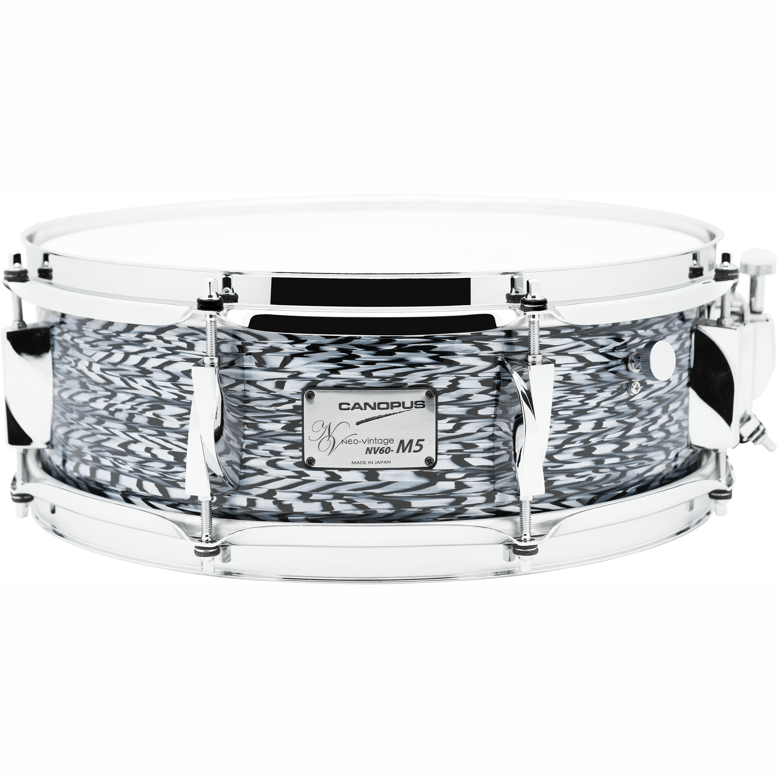 "Canopus 5"" x 14"" Neo-Vintage M5 Snare Drum with 1.6mm Steel Hoops in Black Onyx"