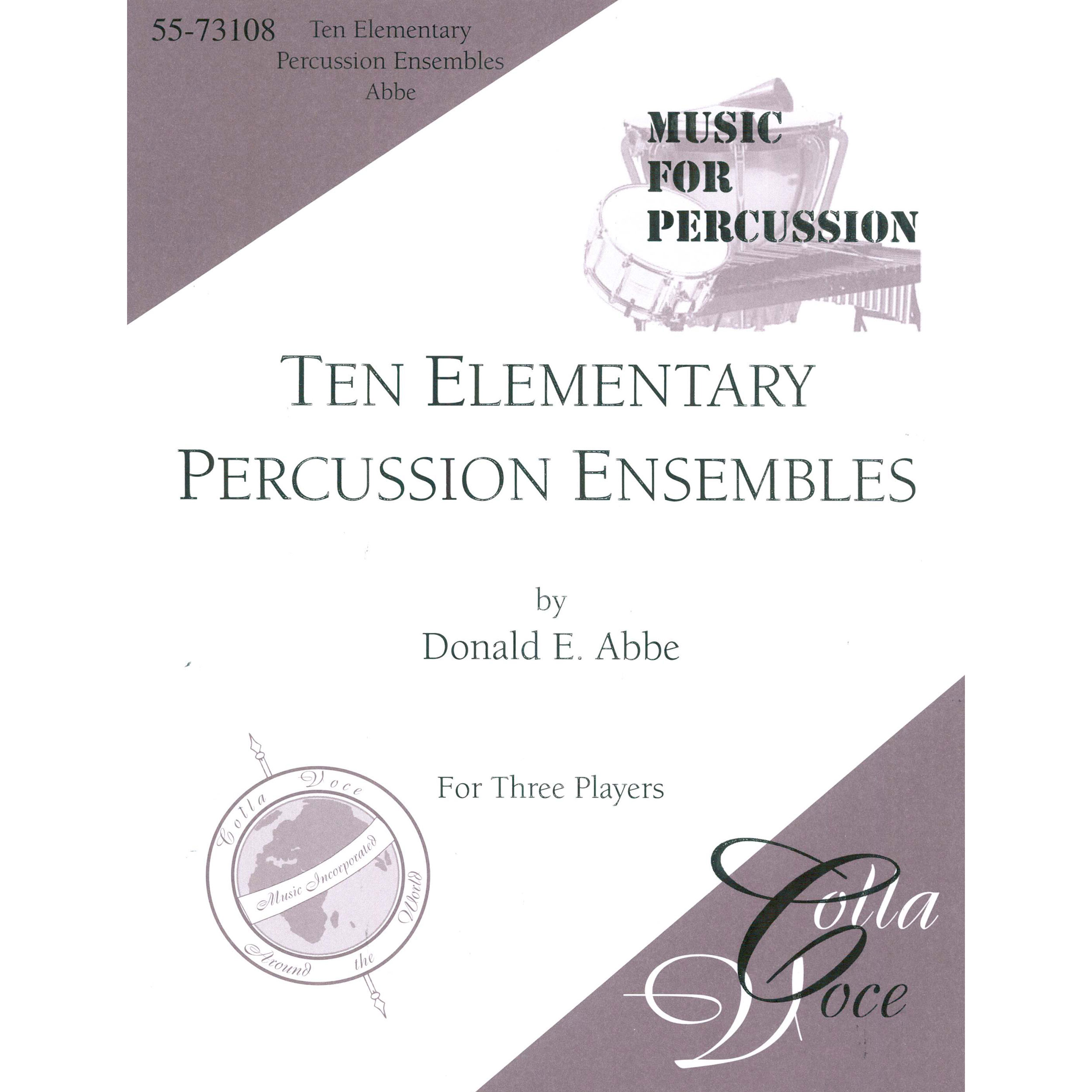 Ten Elementary Percussion Ensembles by Donald Abbe