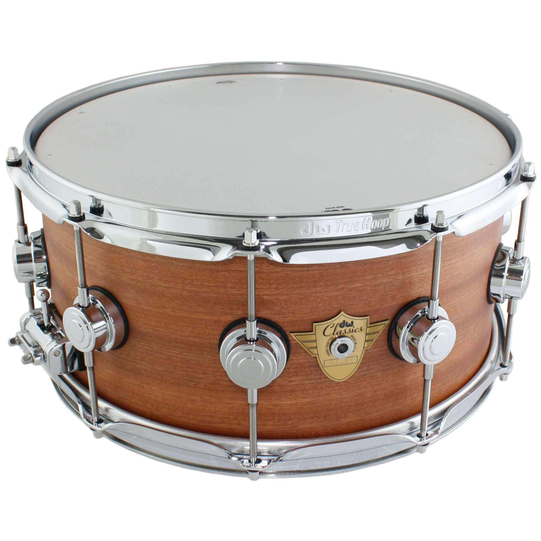 "DW 6.5"" x 14"" Classic Series Natural Hard Satin Snare Drum"