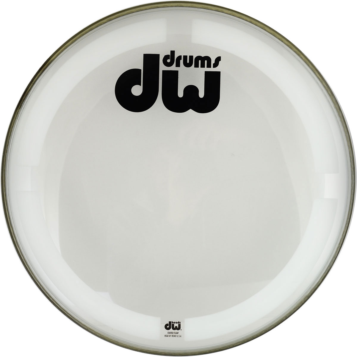 "DW 24"" Coated Clear Bass Head"