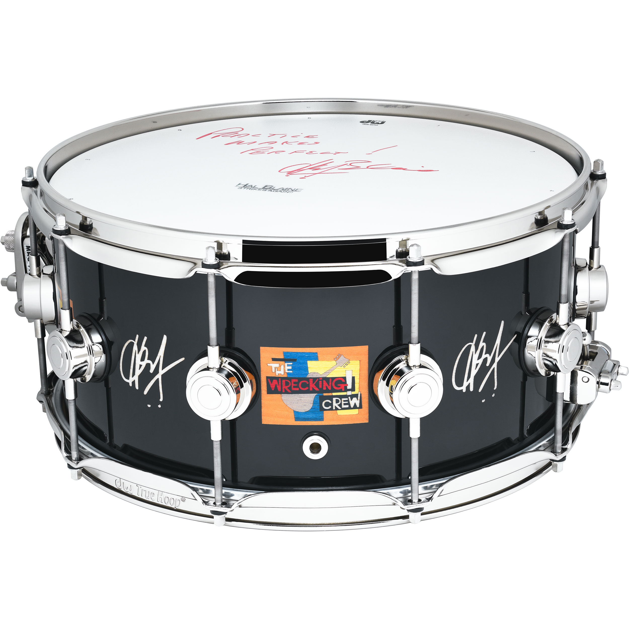 """DW 6.5"""" x 14"""" Hal Blaine Wrecking Crew Icon Snare Drum with Nickel Hardware"""