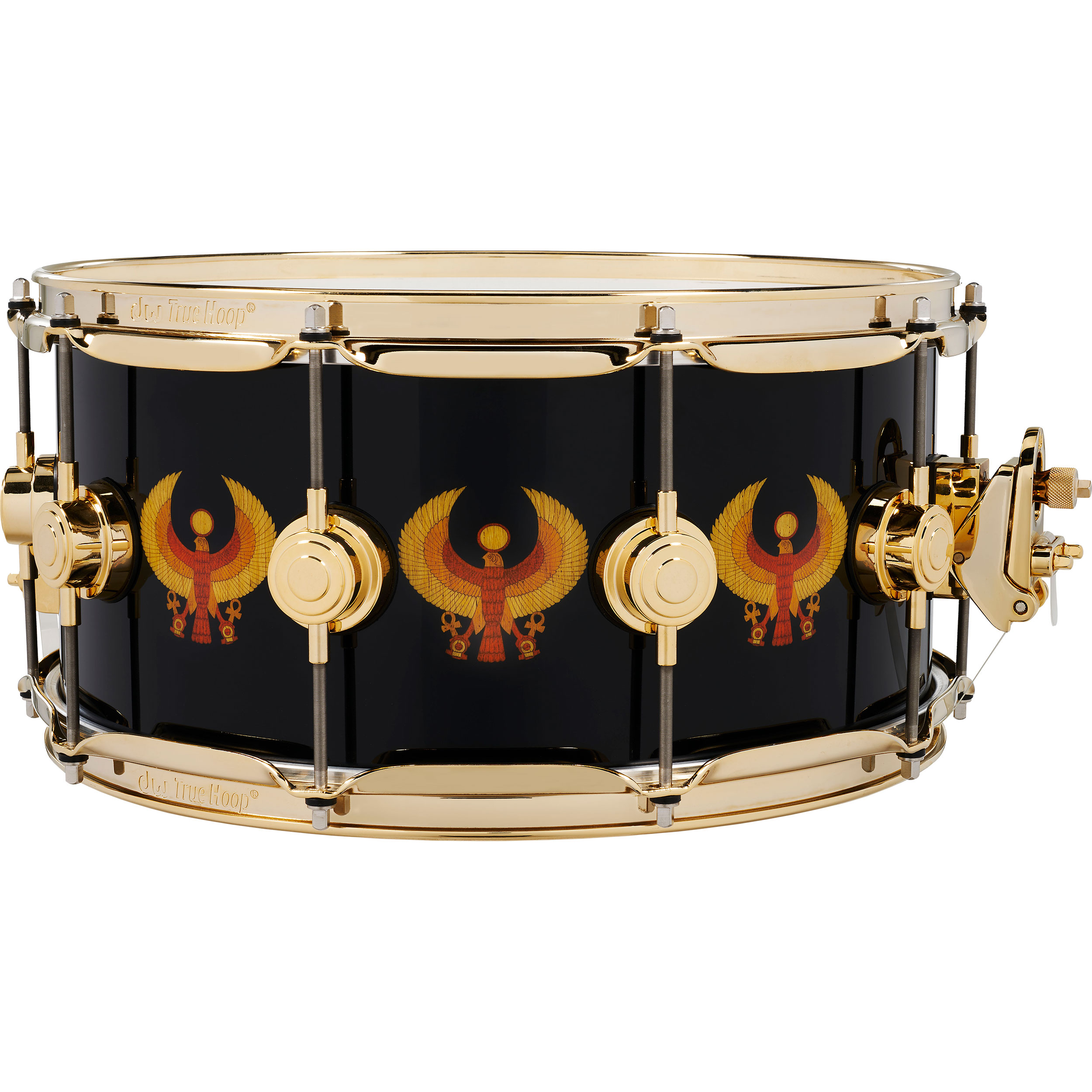 """DW 6.5"""" x 14"""" All-Access Earth, Wind, and Fire Icon Snare Drum with Gold Hardware"""