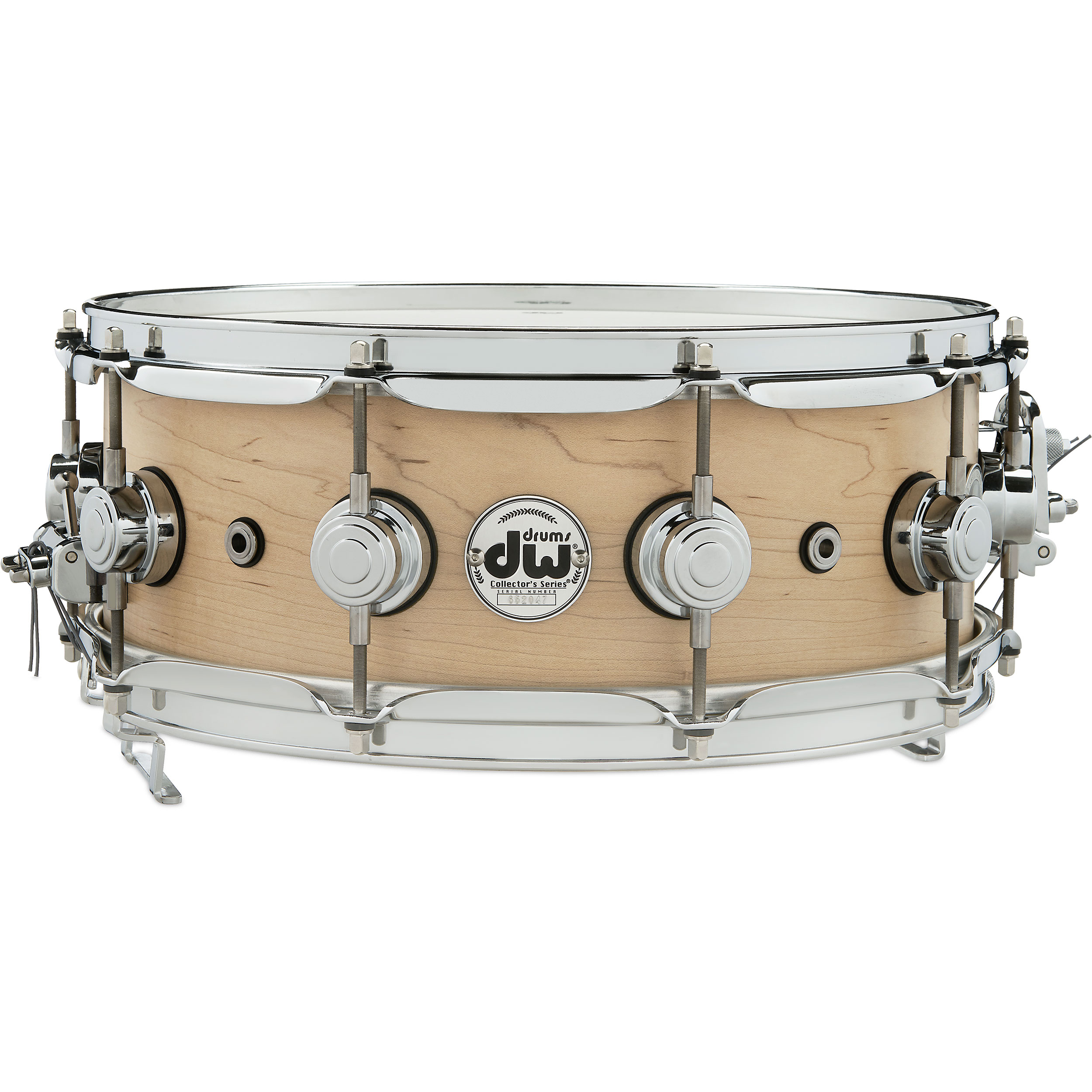 "DW 5.5"" x 14"" Pure Maple Super-Sonic Solid Shell Snare Drum in Satin Oil"