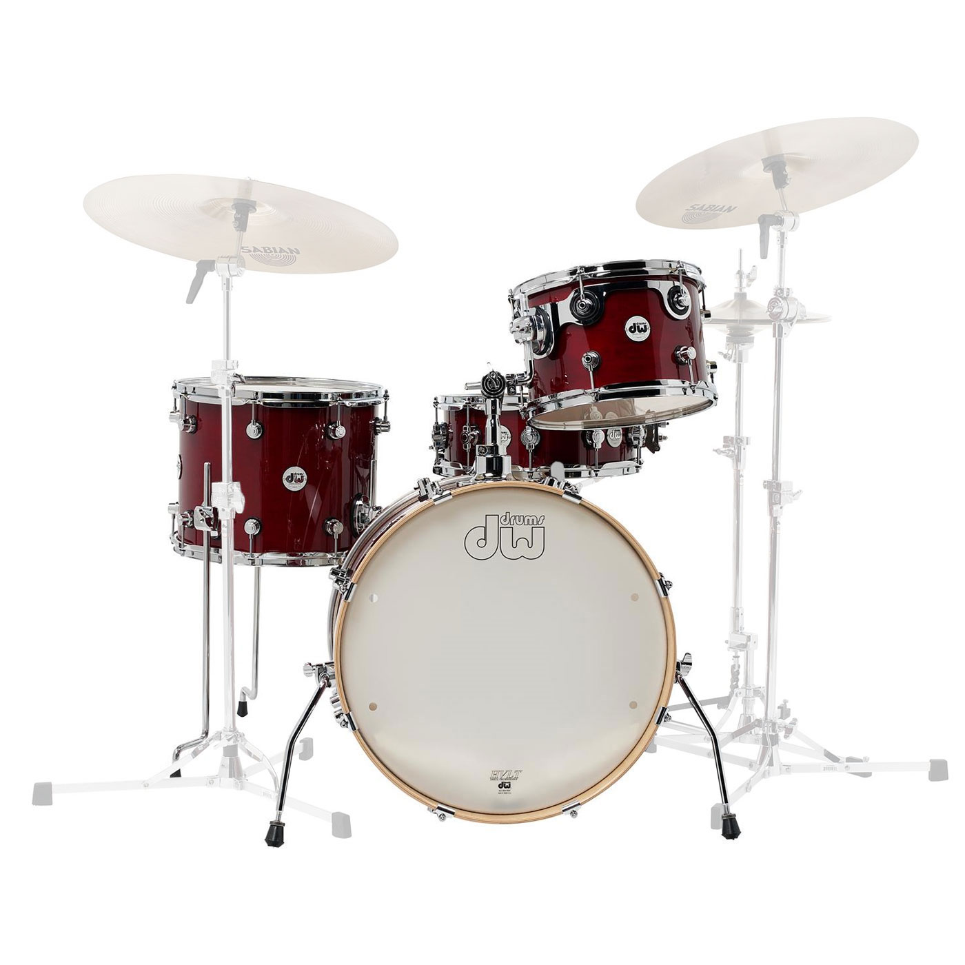 "DW Design Frequent Flyer 4-Piece Drum Set Shell Pack (20"" Bass, 12/14"" Toms, 14"" Snare)"