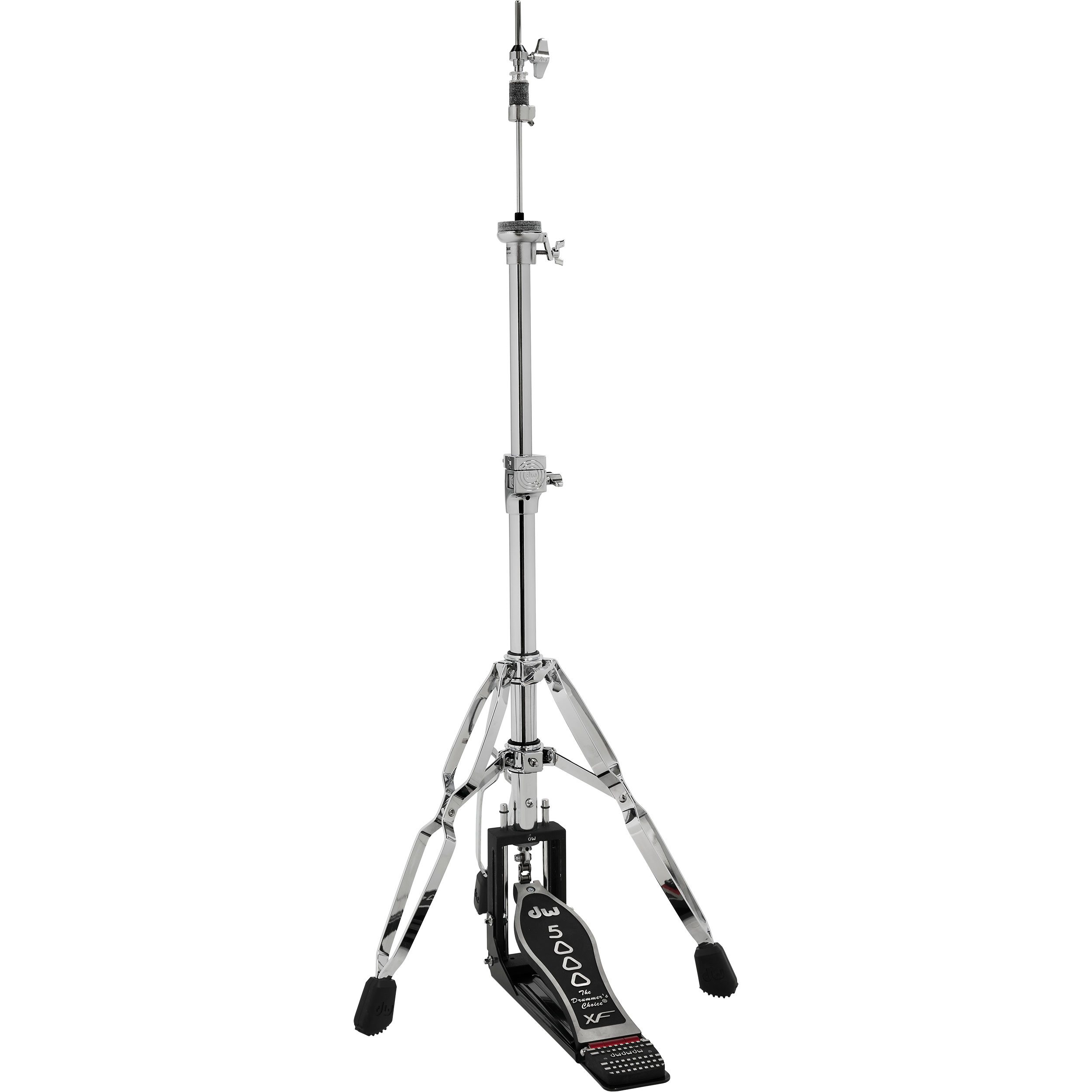 DW 5000 Series Heavy Duty Delta II 3-Leg Hi Hat Stand with Extended Footboard
