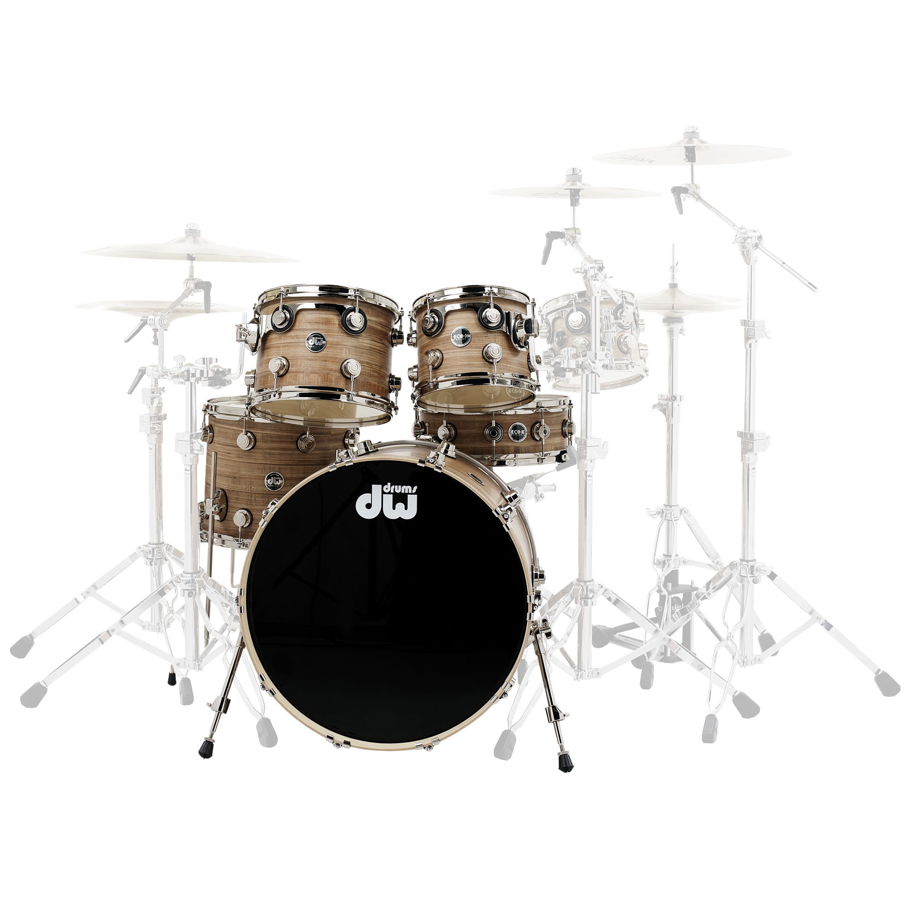 "DW Eco-X Series 5-Piece Drum Set Shell Pack (22"" Bass, 10/12/16"" Toms, 14"" Snare)"