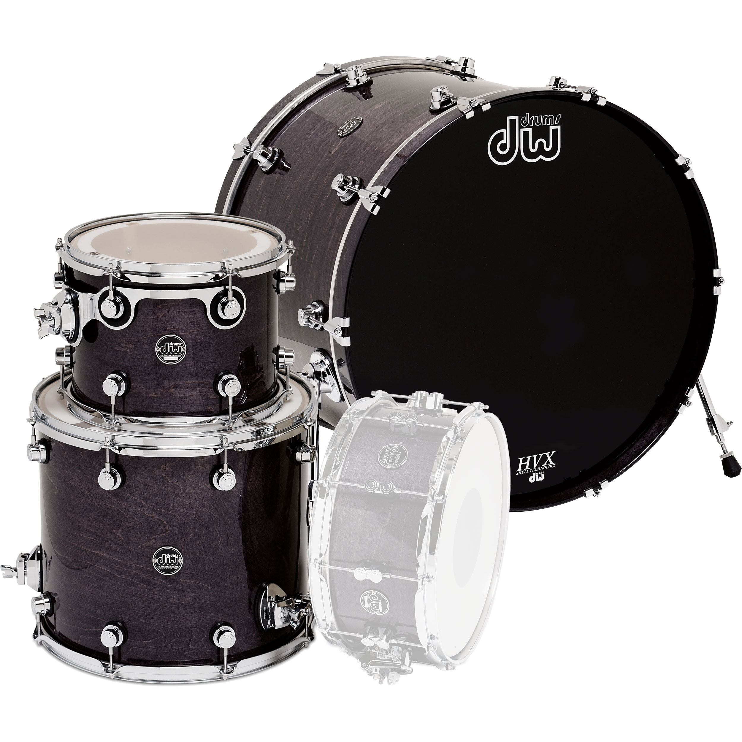 "DW Performance 3-Piece Drum Set Shell Pack (18"" Bass, 12/14"" Toms)"
