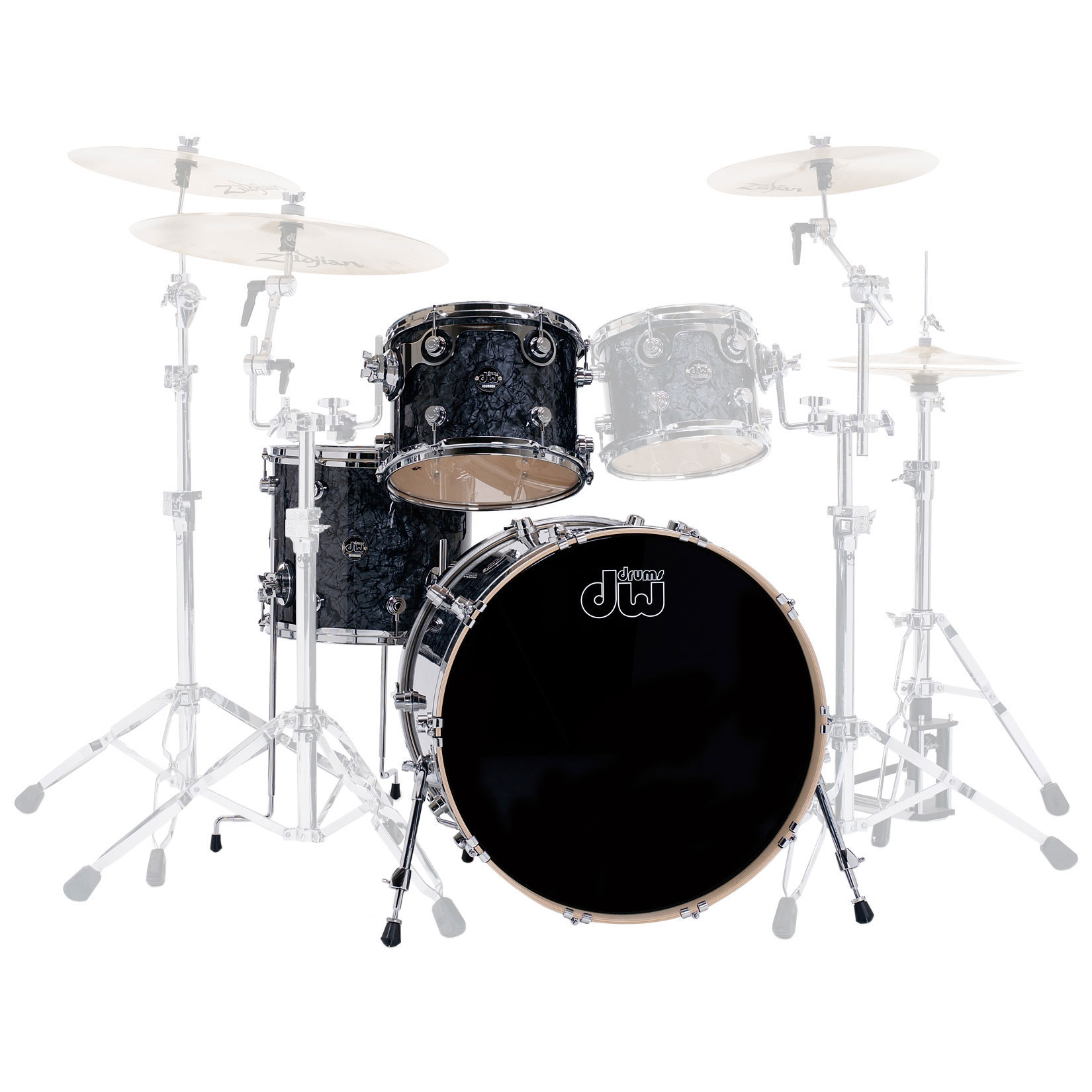 "DW Performance 3-Piece Drum Set Shell Pack (22"" Bass, 12/16"" Toms)"