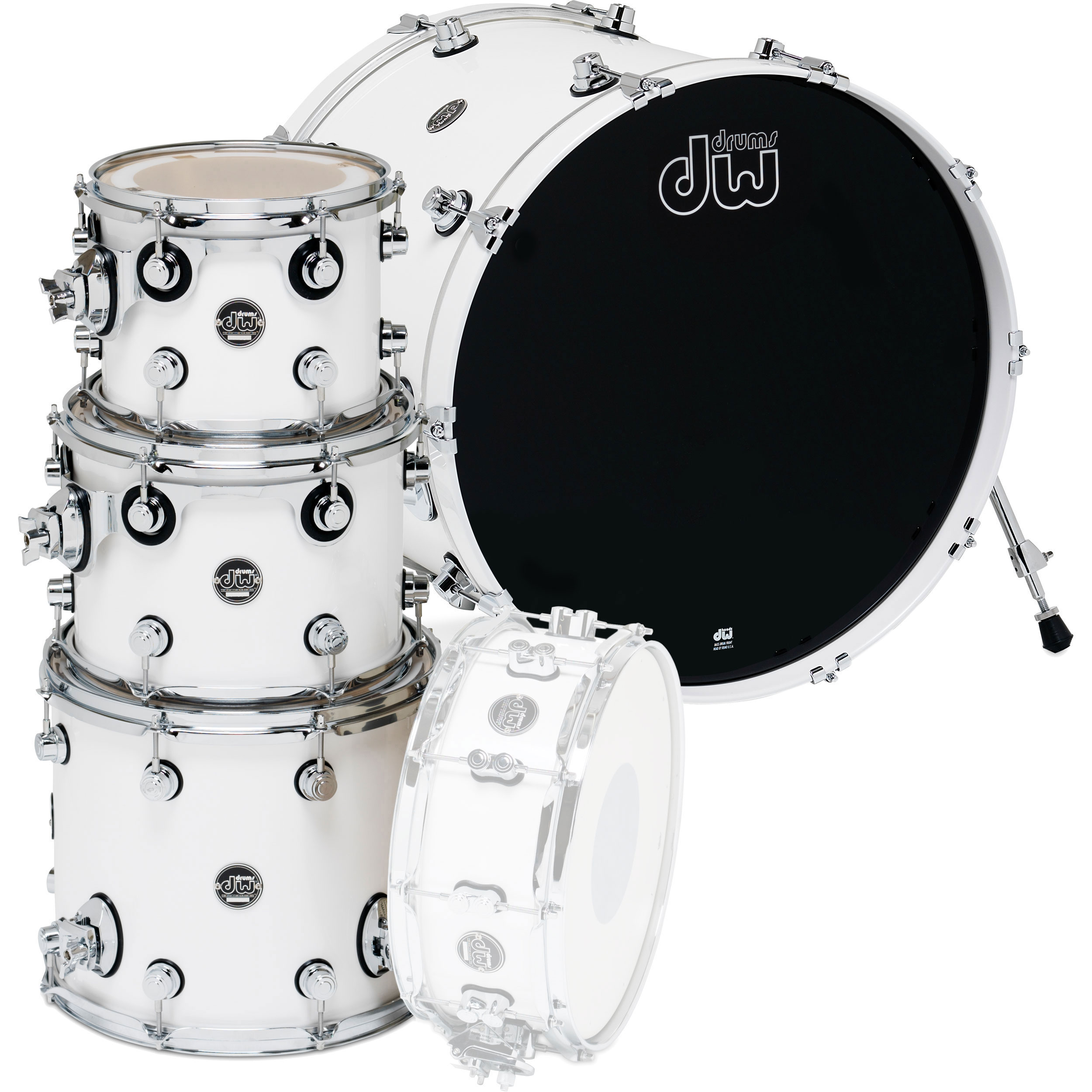 "DW Performance 4-Piece Drum Set Shell Pack (20"" Bass, 10/12/14"" Toms)"