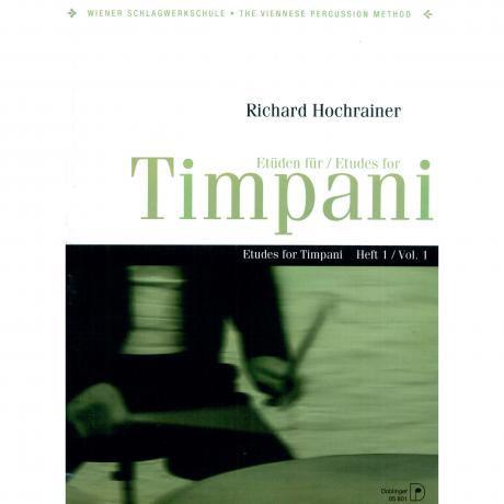 Etuden fur Timpani (Etudes for Timpani) Vol. 1 by Richard Hochrainer