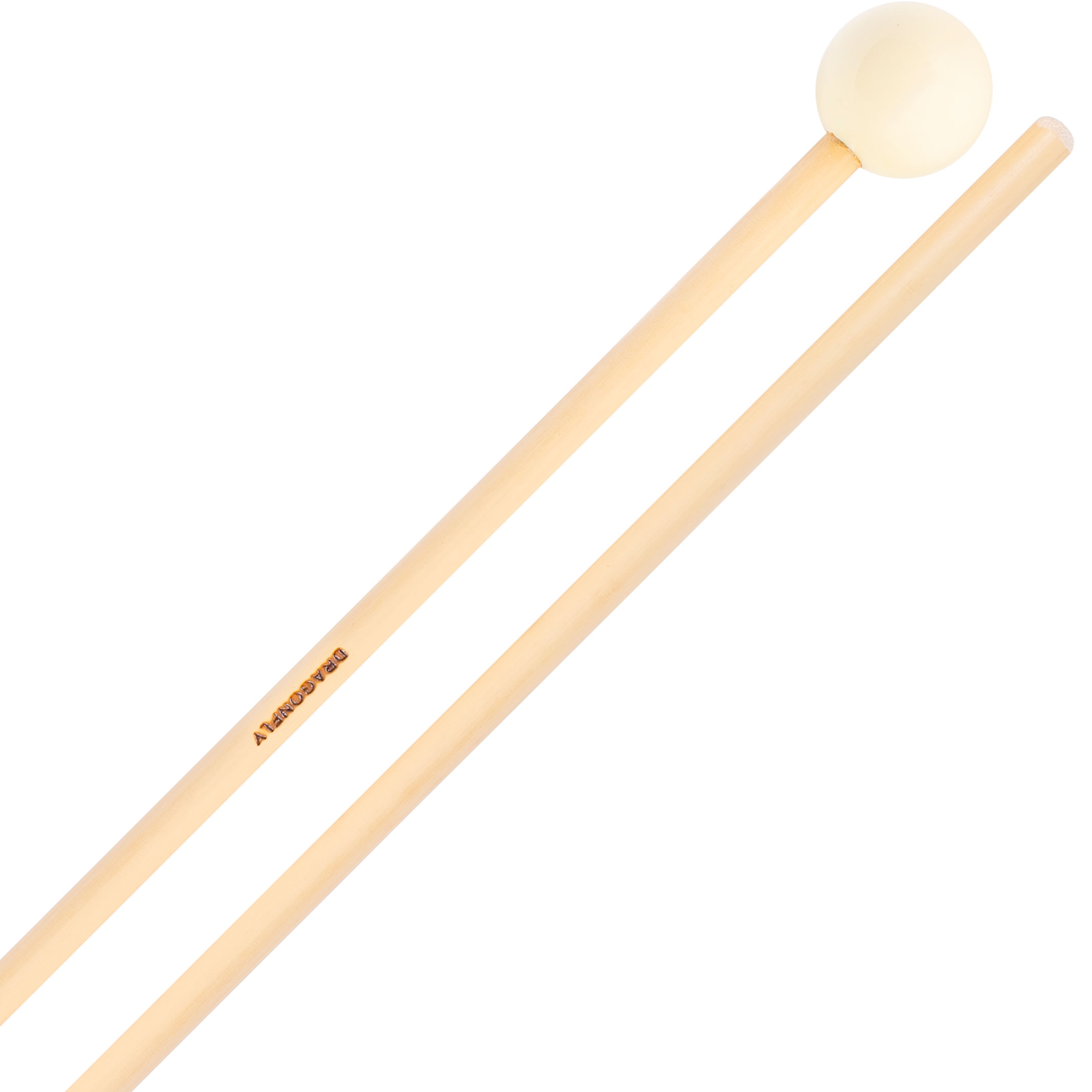 """Dragonfly Percussion 1"""" White Phenolic Bell / Xylophone Mallets with Rattan Handles"""