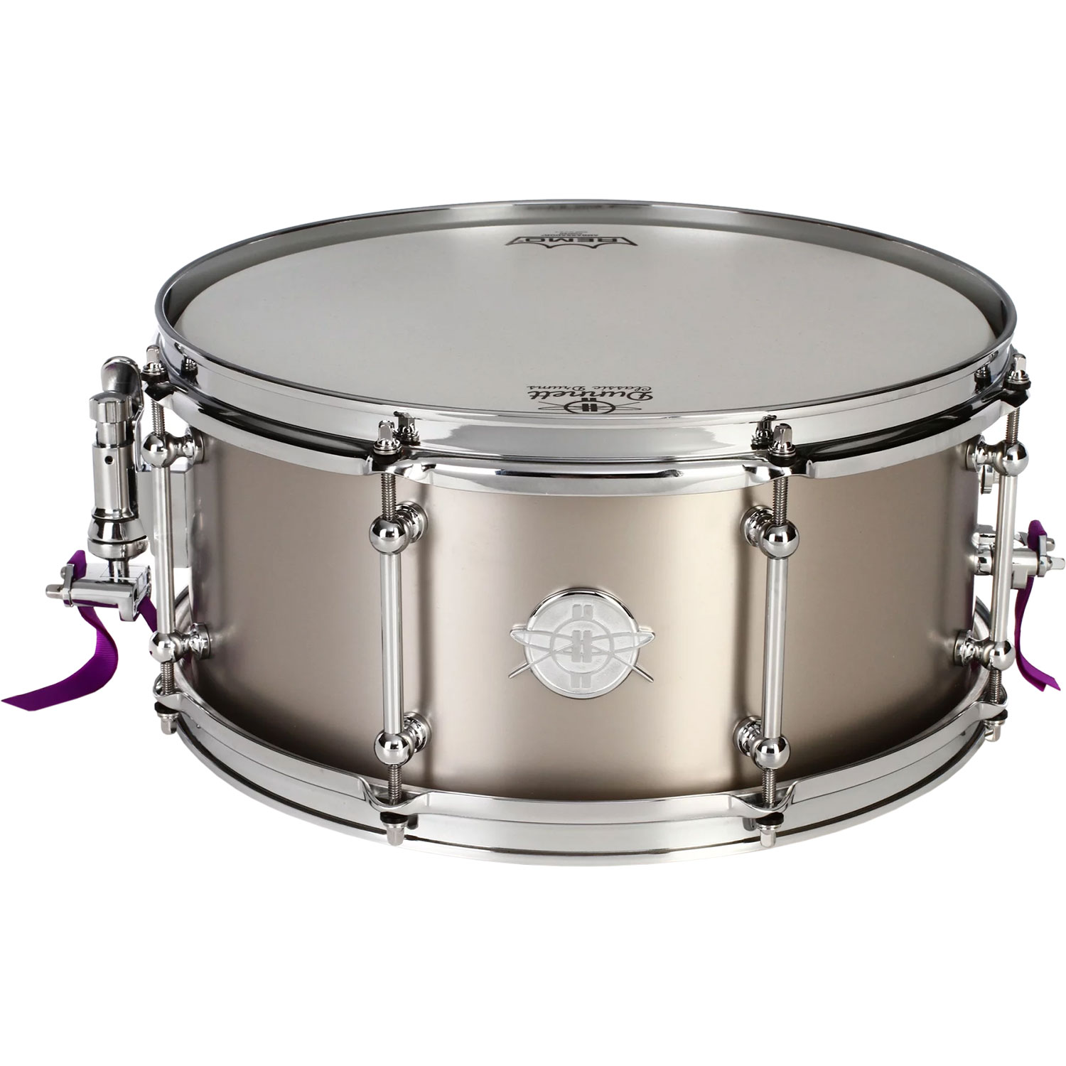 "Dunnett 14"" x 6.5"" Classic Titanium Snare Drum in Raw Finish"