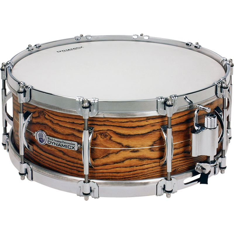 "Dynamicx 5.5"" x 14"" Sterling Series Unibody Solid Shell Snare Drum with Sterling Silver Inlay"