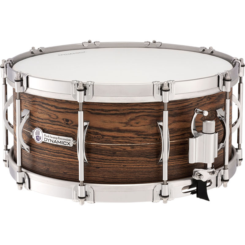 "Dynamicx 6.5"" x 14"" Sterling Series Unibody Solid Shell Snare Drum with Sterling Silver Inlay"