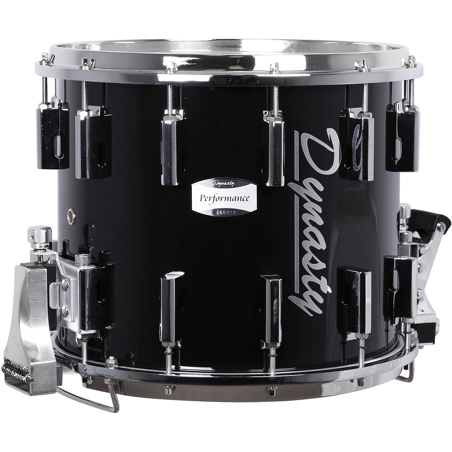Dynasty DFT Traditional Marching Snare Drum with Chrome Hardware in Black
