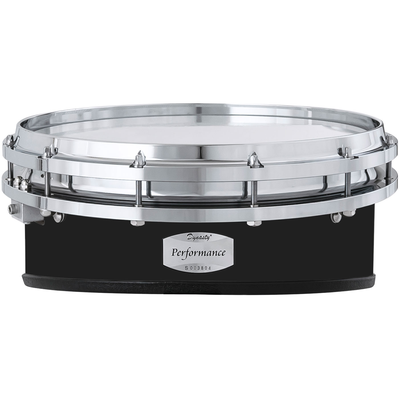 """Dynasty 14"""" DFW Performance Wedge Marching Snare Drum with Chrome Hardware in Black"""