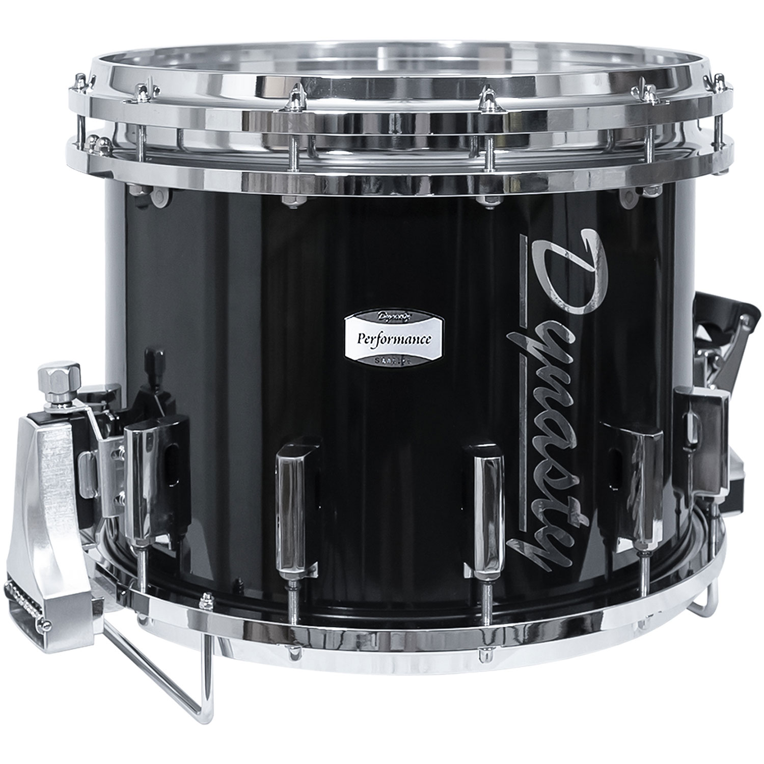 """Dynasty 14"""" x 12"""" DFX Marching Snare Drum with Chrome Hardware in Black"""