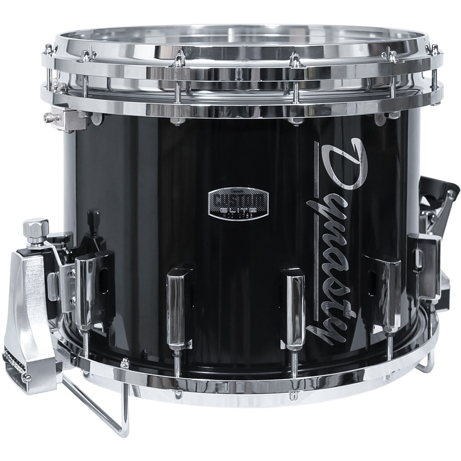 """Dynasty 14"""" x 12"""" DFXD Marching Double Snare Drum with Chrome Hardware in Black"""