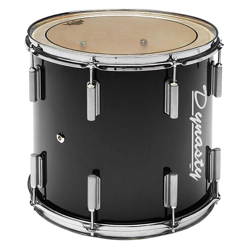 """Dynasty 16"""" x 14"""" Traditional Single Tenor Drum with Chrome Hardware in Black"""
