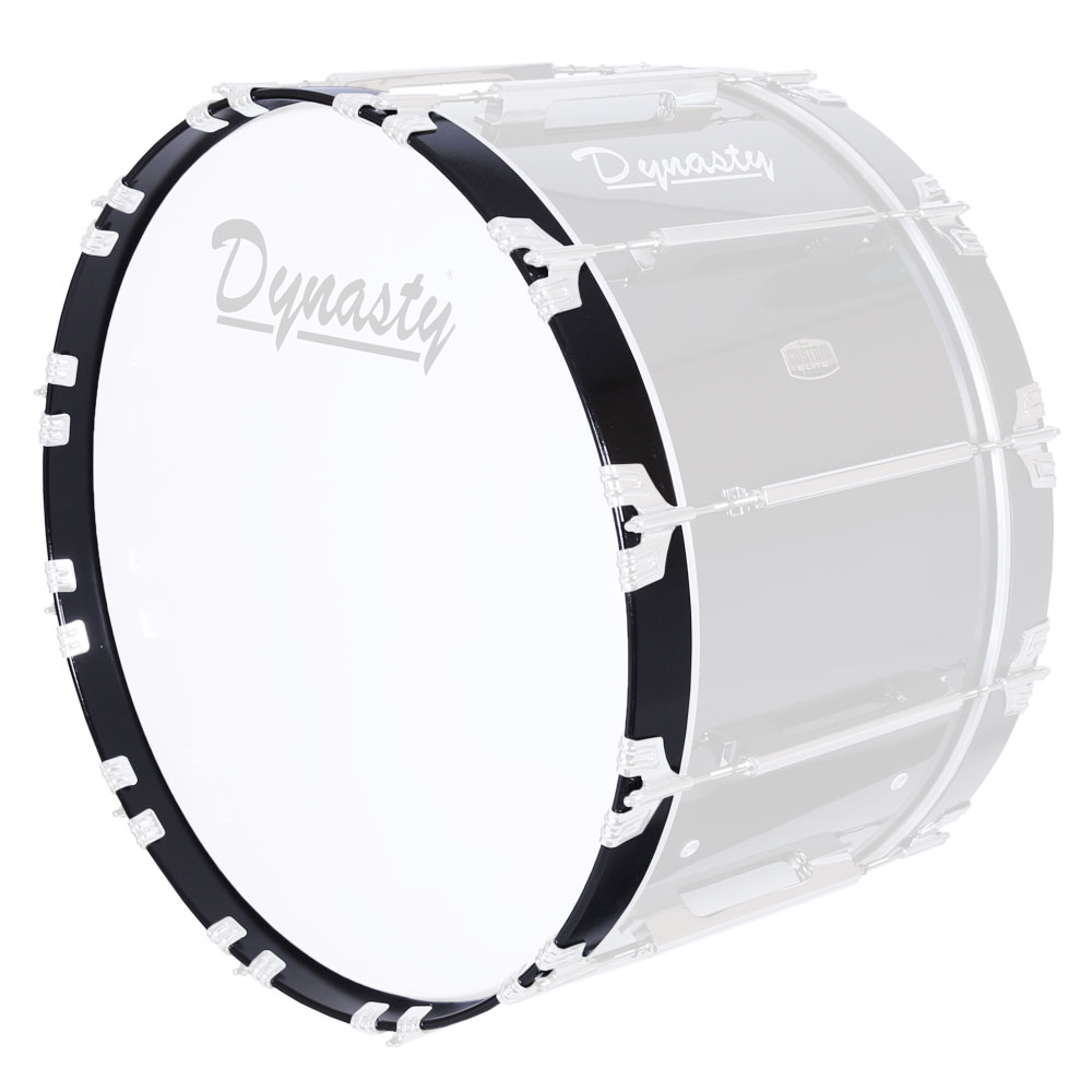 "Dynasty 22"" Black 12-Ply Maple Marching Bass Drum Hoop"