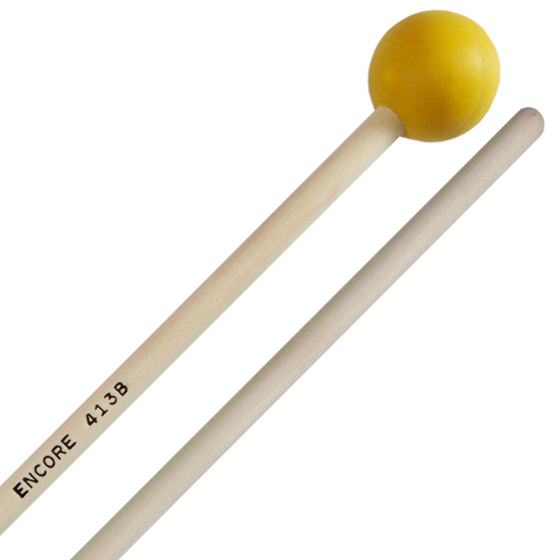 """Encore 1-1/8"""" Yellow Soft Rubber Unwound Keyboard Mallets with Birch Shafts"""