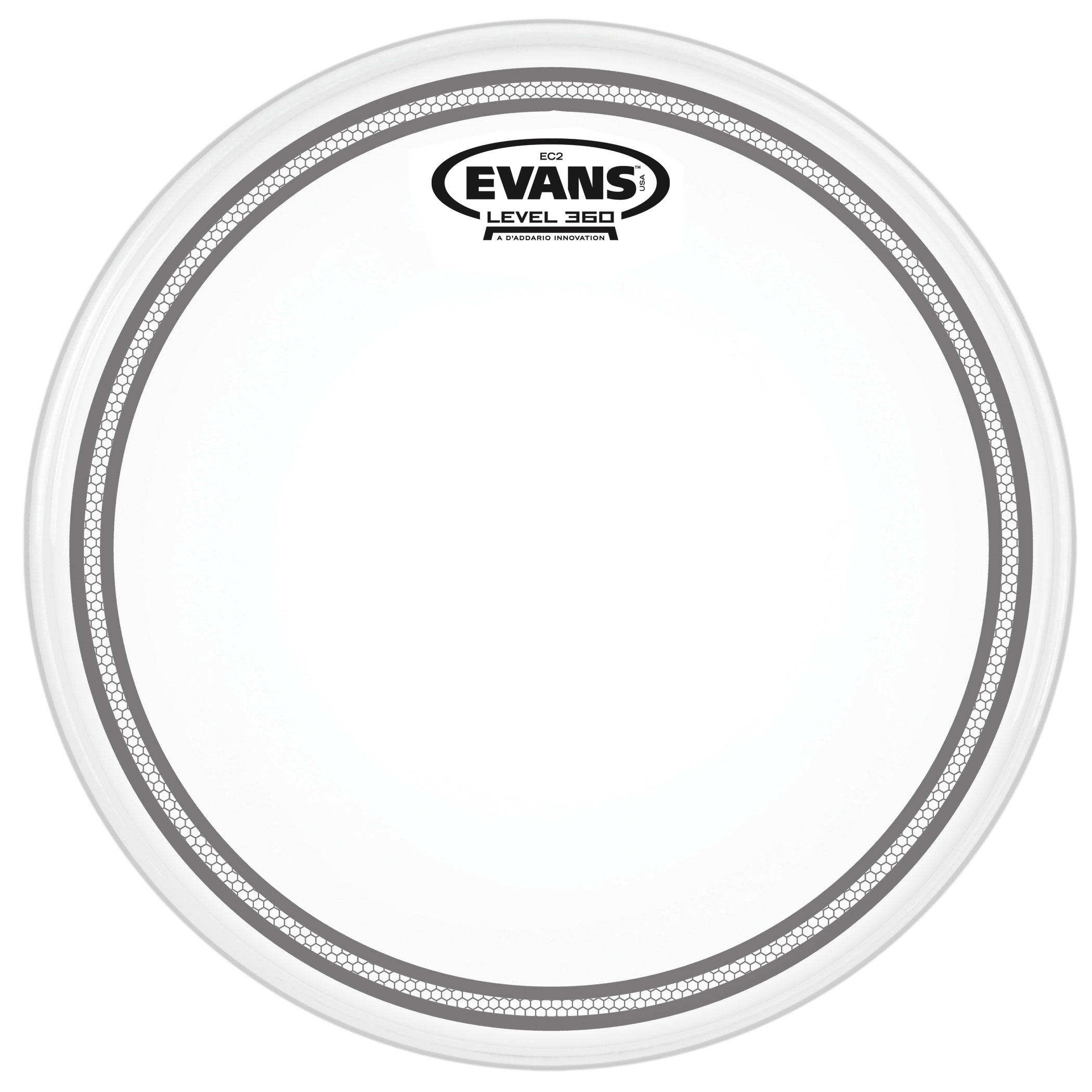 "Evans 12"" EC2S Frosted Head"