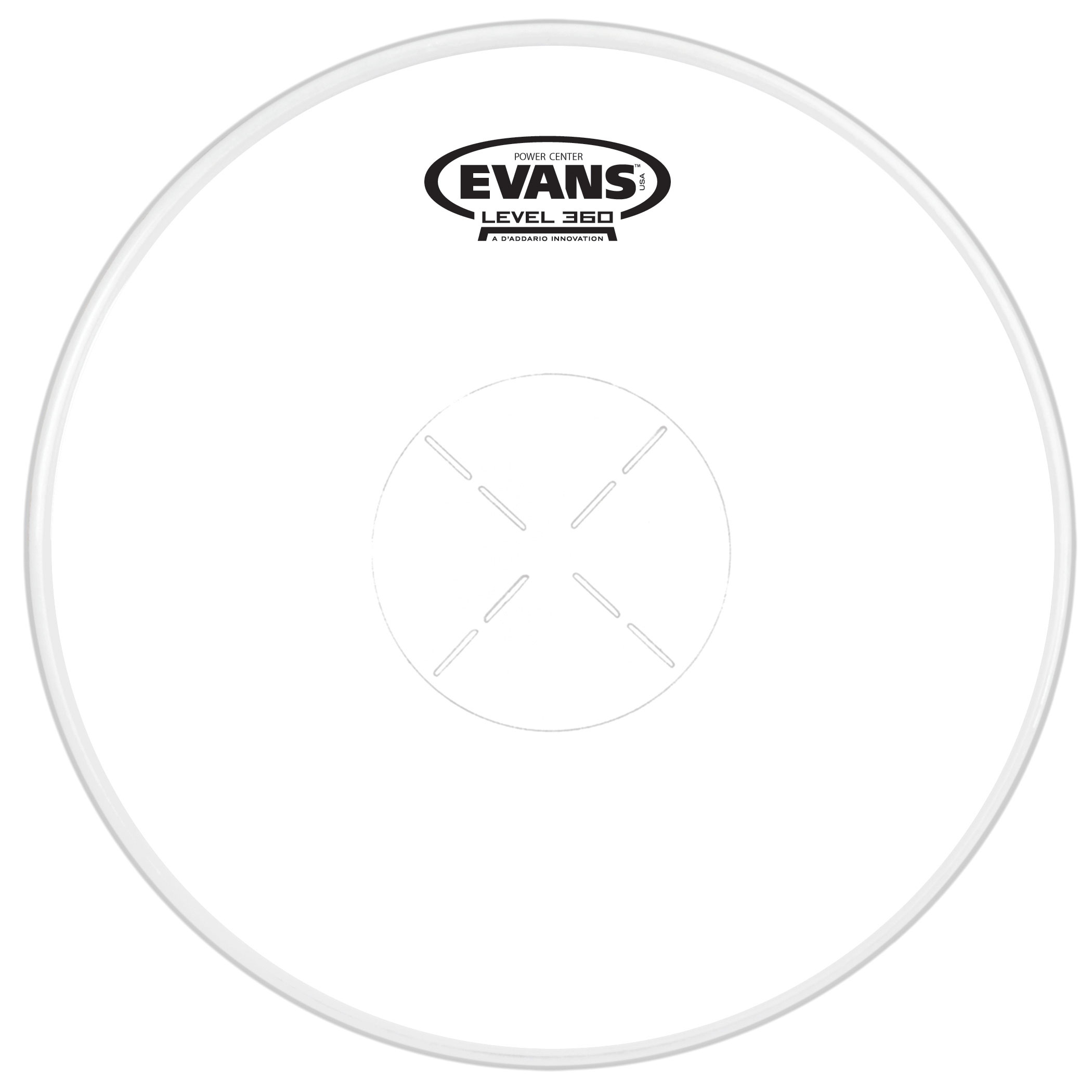 "Evans 13"" Power Center Snare Top Head"