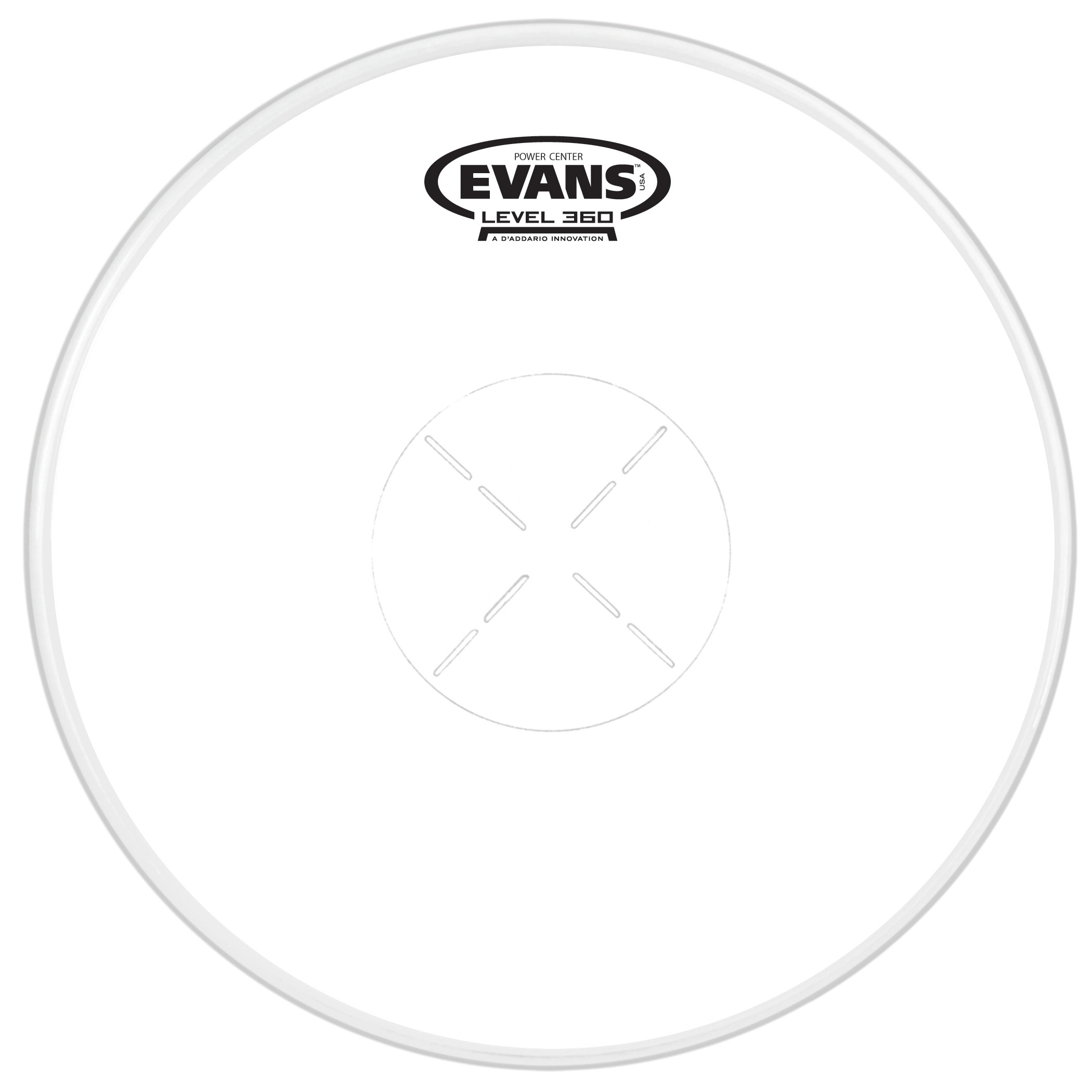 "Evans 14"" Power Center Snare Top Head"