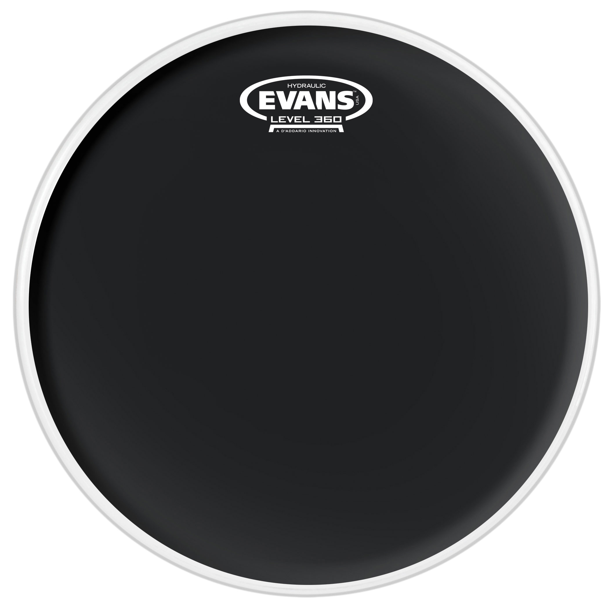 "Evans 14"" Hydraulic Black Coated Snare Top Head"