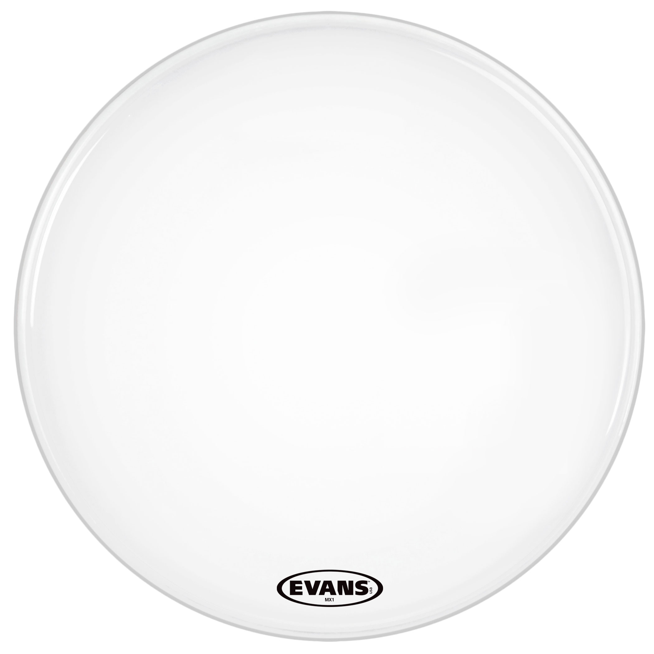 """Evans 26"""" MX1 White Marching Bass Head"""