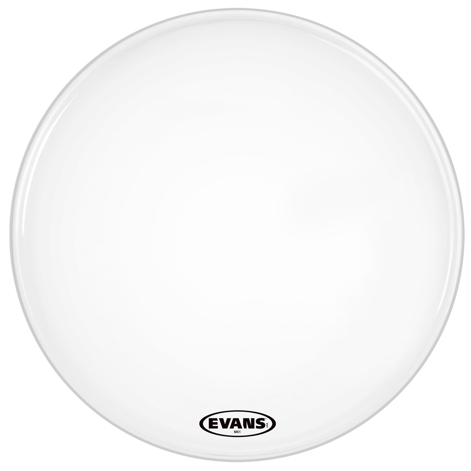 "Evans 14"" MX1 White Marching Bass Head"