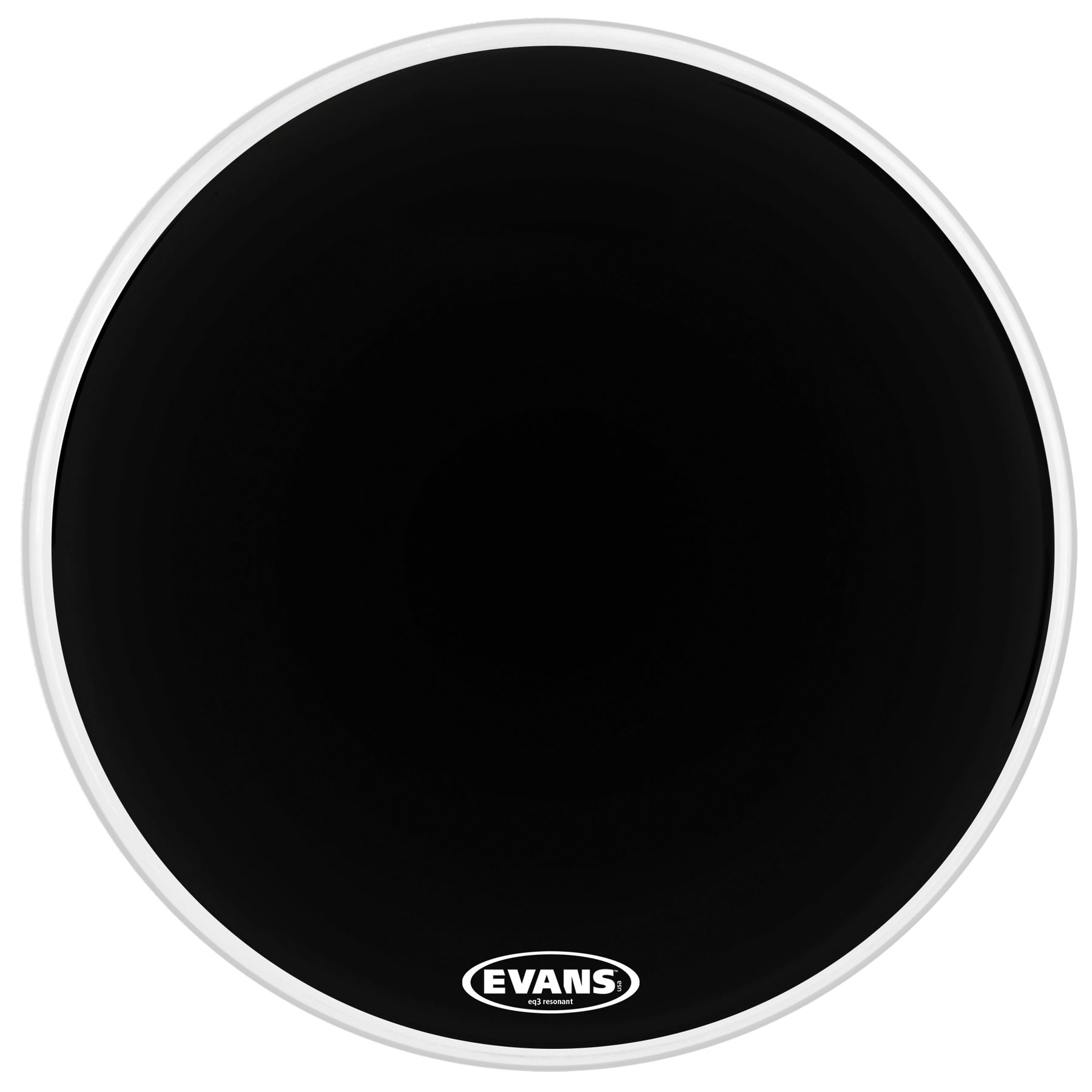 "Evans 16"" EQ3 Resonant Black Bass Head without Port"