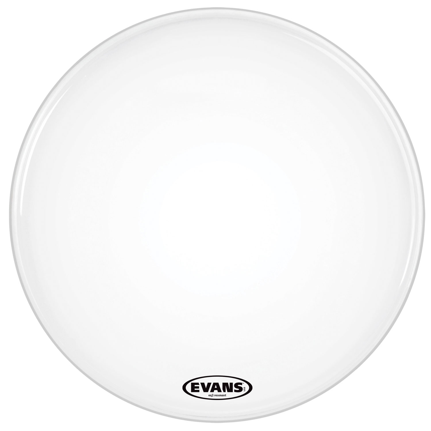 "Evans 16"" EQ3 Resonant Smooth White Bass Head without Port"
