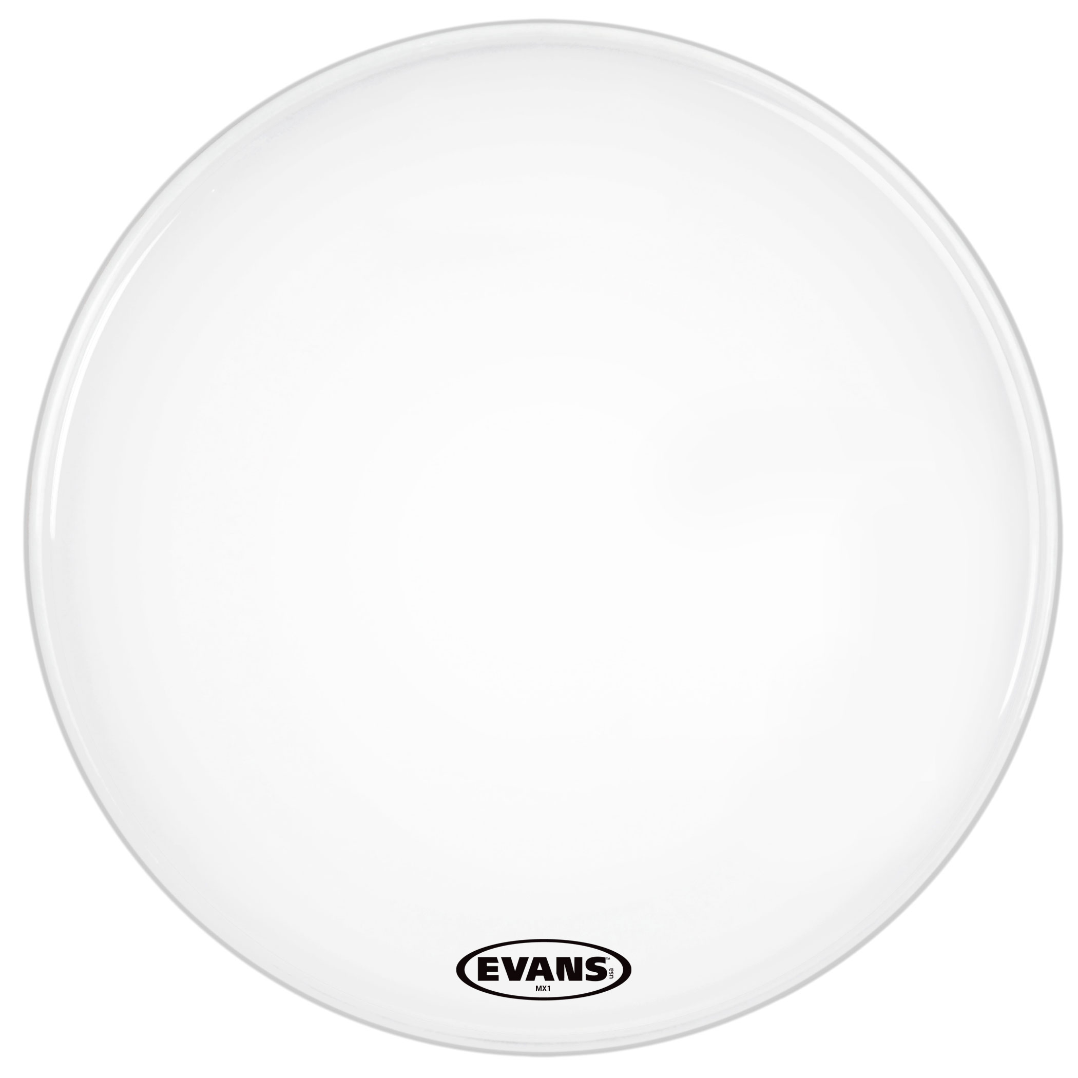 """Evans 18"""" MX1 White Marching Bass Head"""