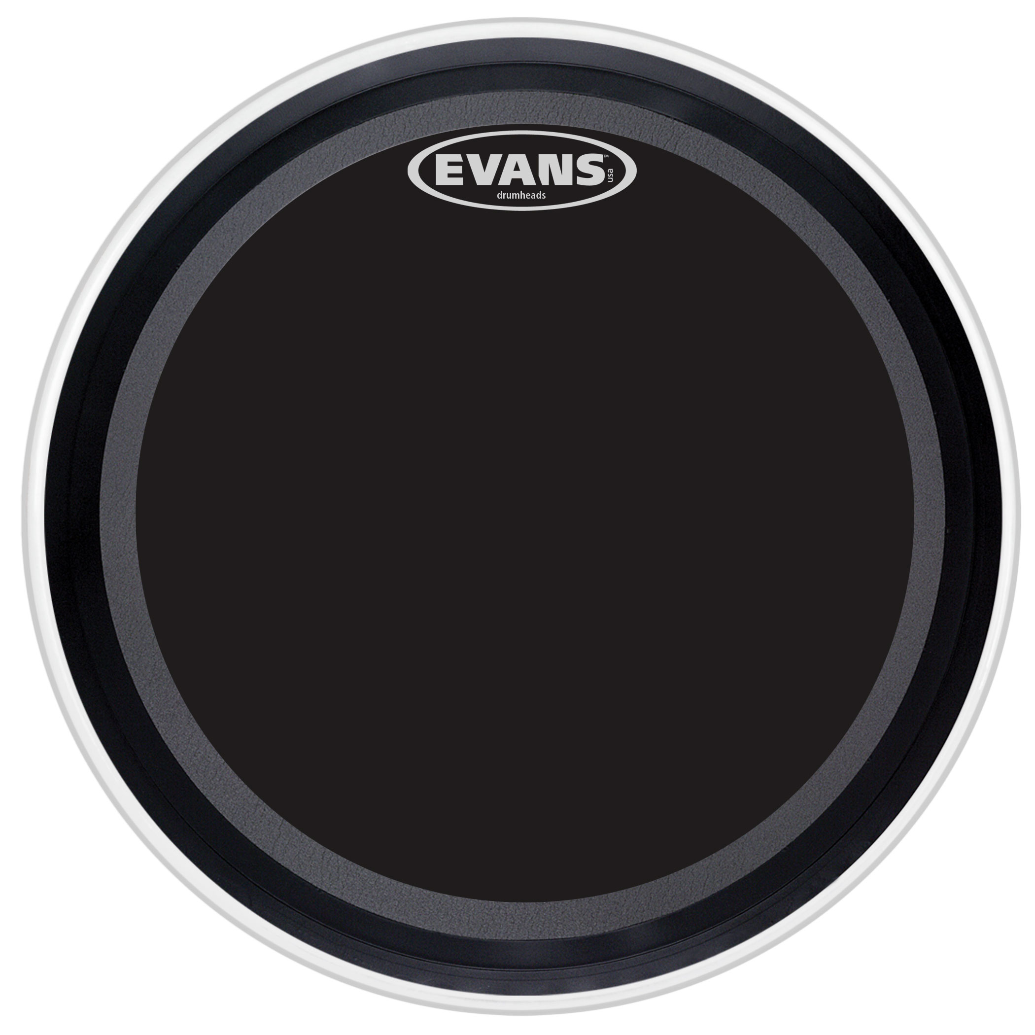 "Evans 20"" EMAD Onyx Bass Head"